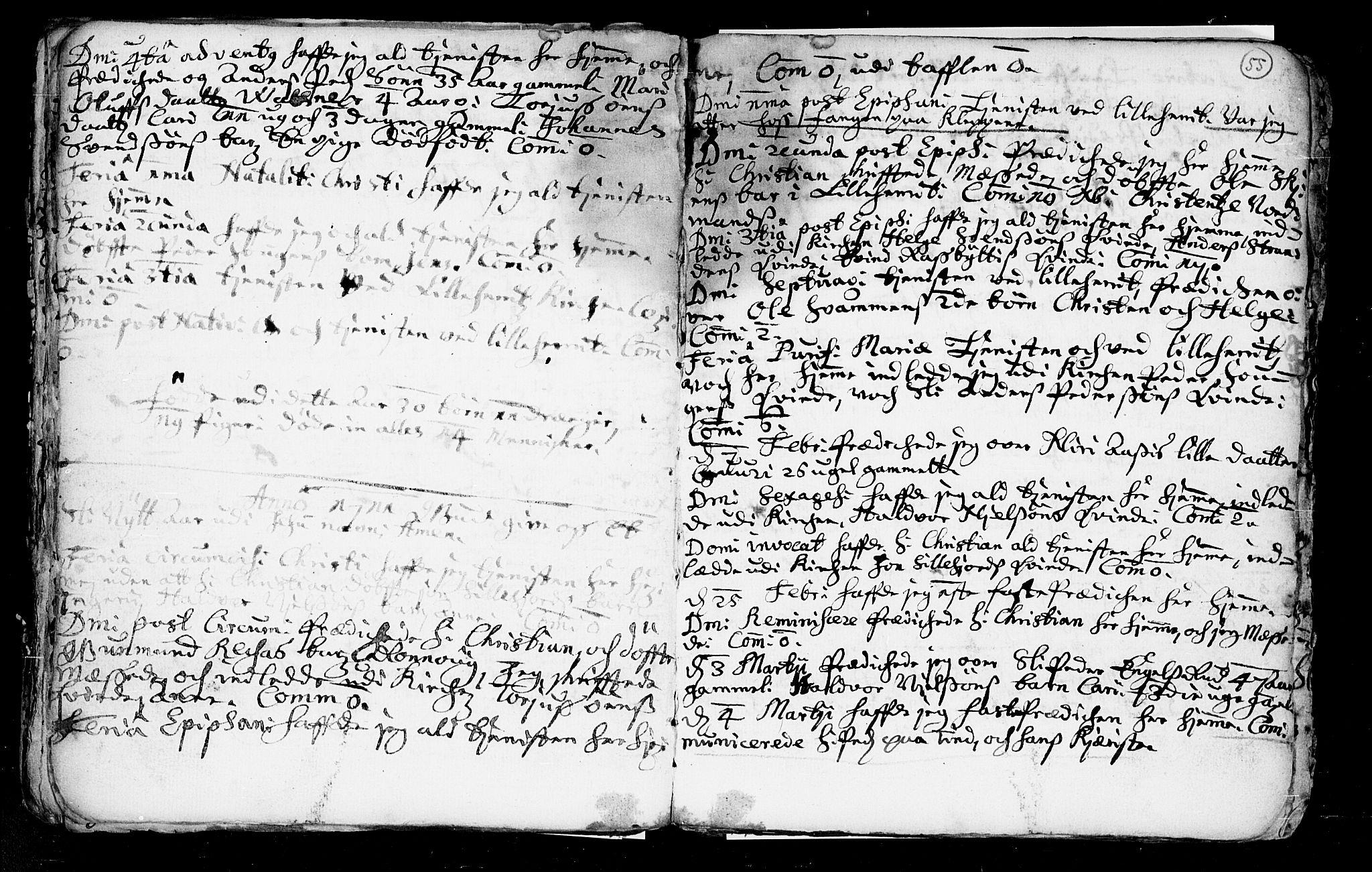 SAKO, Heddal kirkebøker, F/Fa/L0002: Ministerialbok nr. I 2, 1699-1722, s. 55