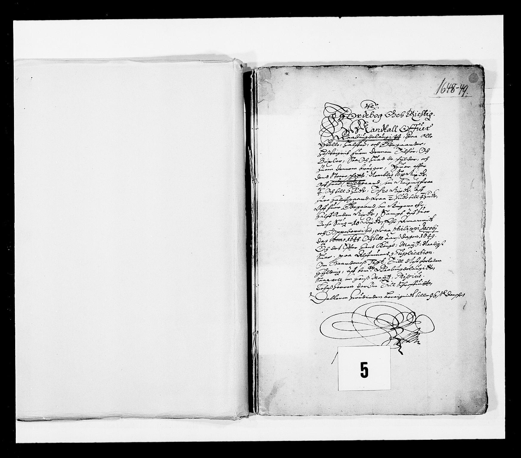 RA, Stattholderembetet 1572-1771, Ek/L0023: Jordebøker 1633-1658:, 1648-1649, s. 1