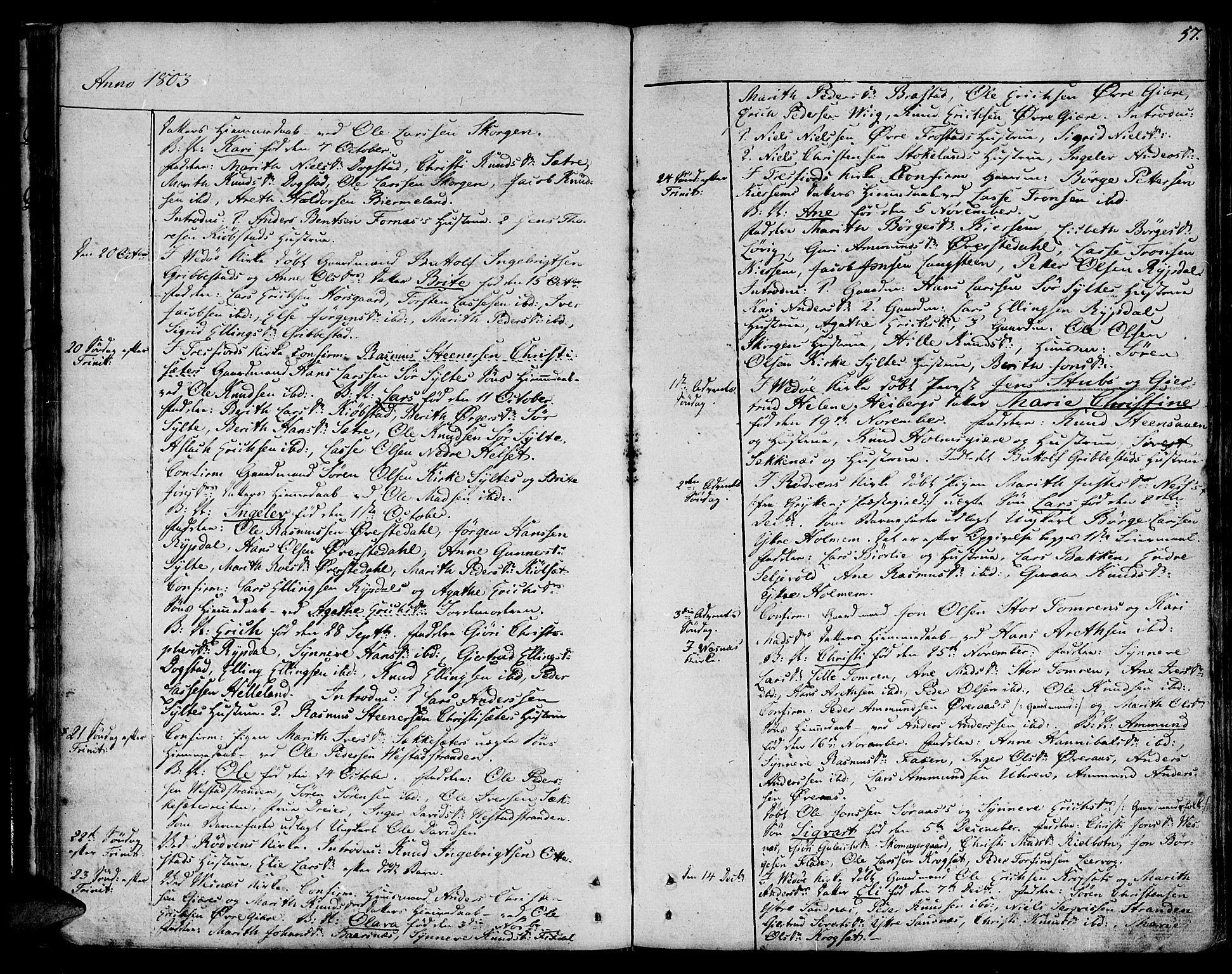 SAT, Ministerialprotokoller, klokkerbøker og fødselsregistre - Møre og Romsdal, 547/L0601: Ministerialbok nr. 547A03, 1799-1818, s. 57