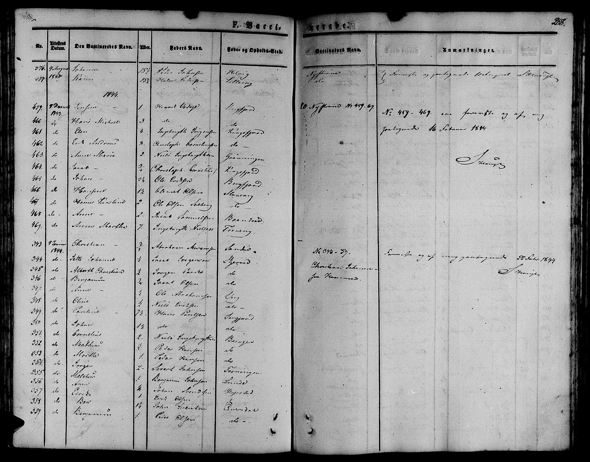 SAT, Ministerialprotokoller, klokkerbøker og fødselsregistre - Sør-Trøndelag, 657/L0703: Ministerialbok nr. 657A04, 1831-1846, s. 268