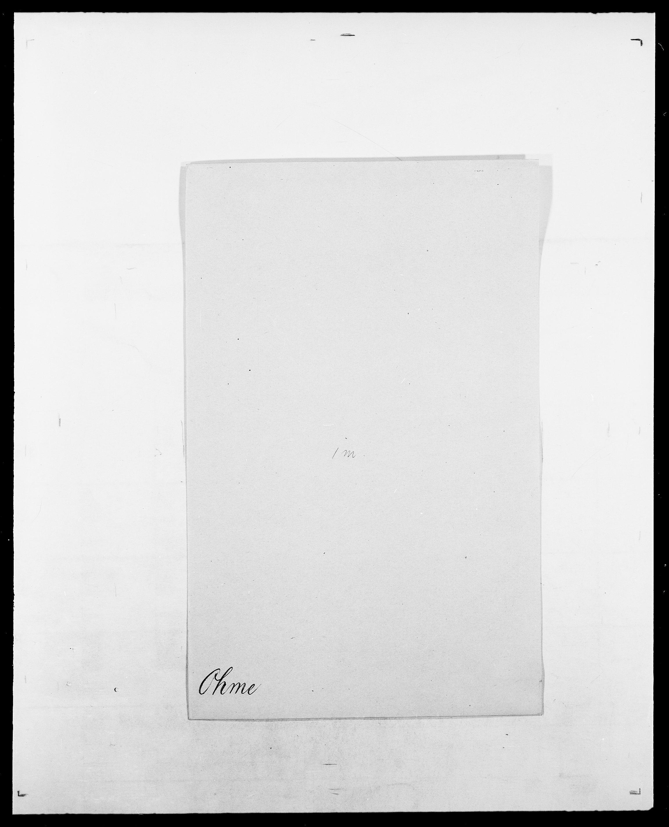 SAO, Delgobe, Charles Antoine - samling, D/Da/L0029: Obel - Oxholm, s. 77