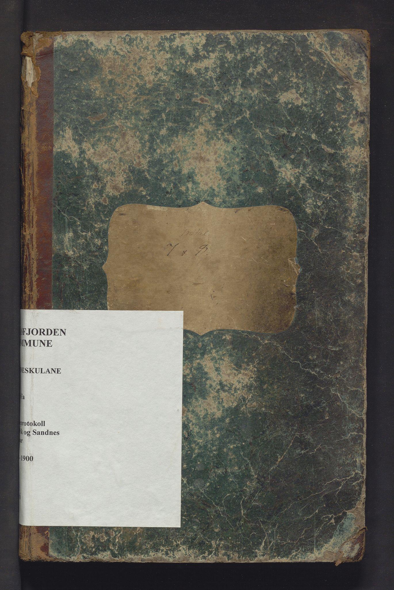 IKAH, Masfjorden kommune. Barneskulane, F/Fa/L0006: Skuleprotokoll for Andvik og Sandnes krinsar, 1868-1900
