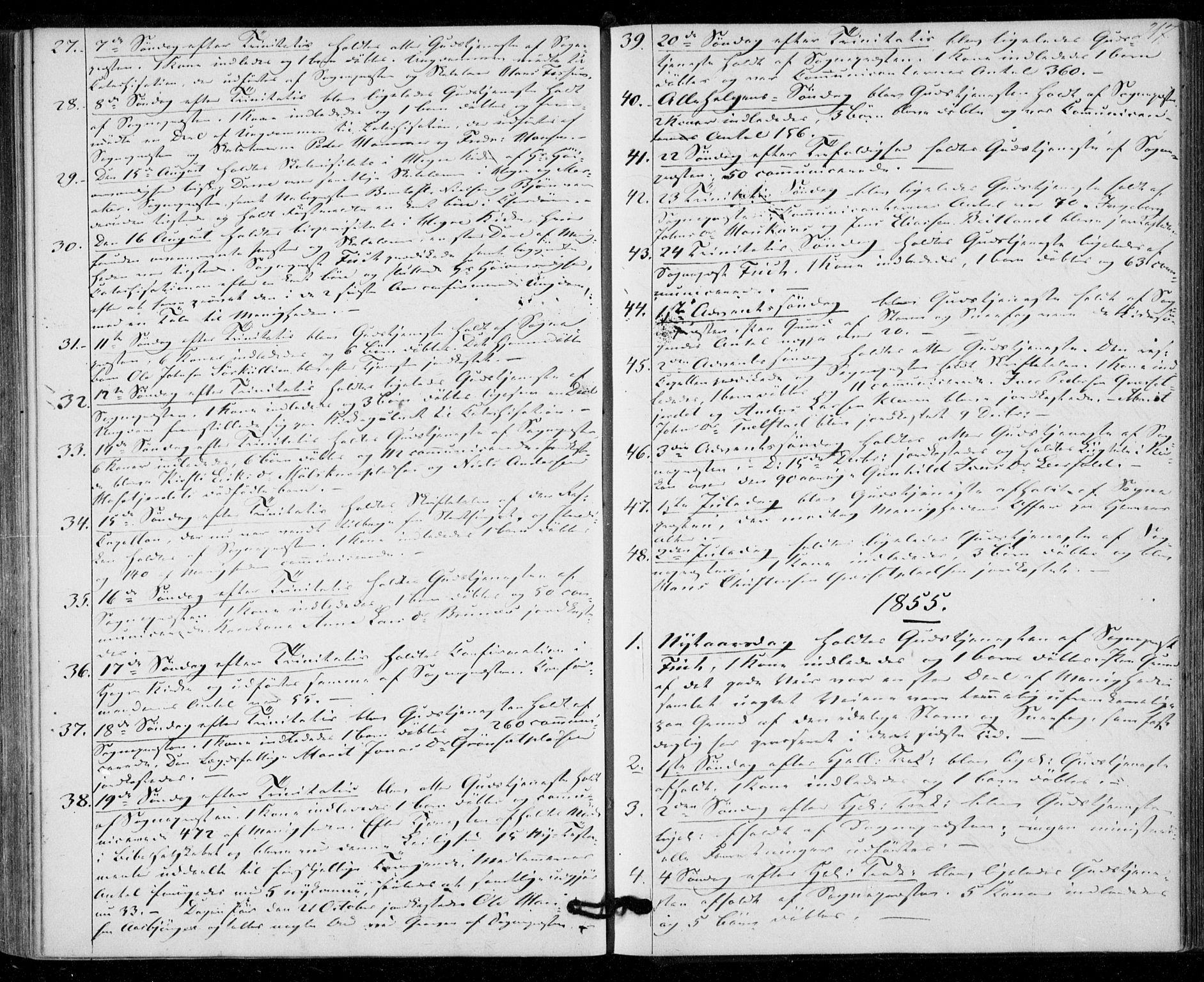 SAT, Ministerialprotokoller, klokkerbøker og fødselsregistre - Nord-Trøndelag, 703/L0028: Ministerialbok nr. 703A01, 1850-1862, s. 217
