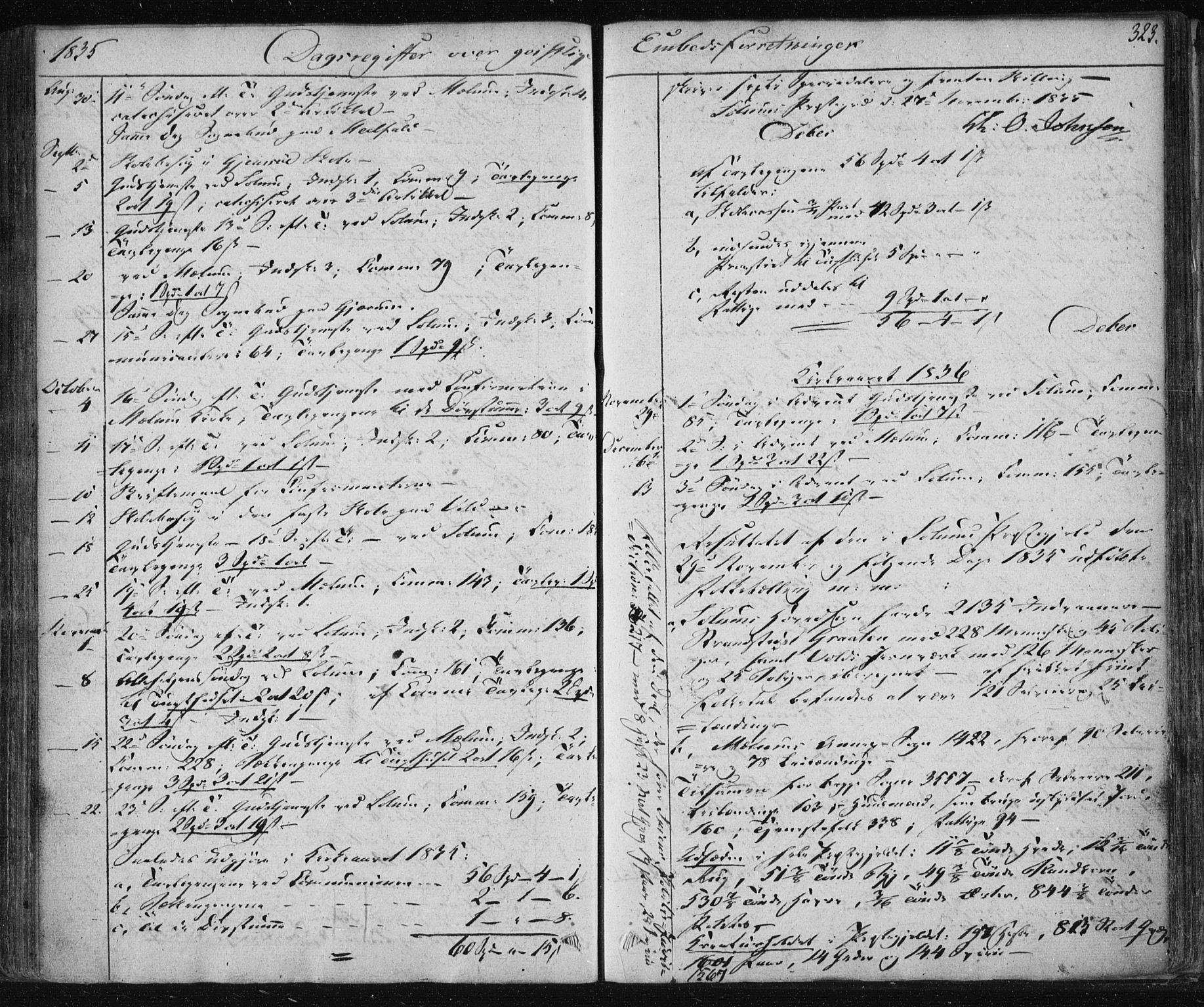 SAKO, Solum kirkebøker, F/Fa/L0005: Ministerialbok nr. I 5, 1833-1843, s. 323