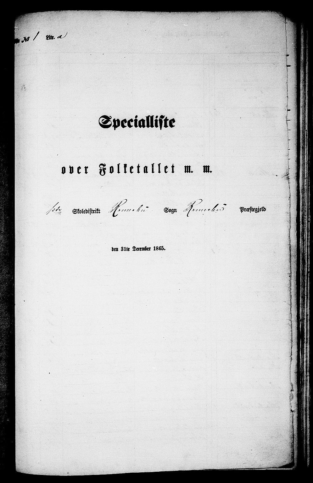 RA, Folketelling 1865 for 1635P Rennebu prestegjeld, 1865, s. 7