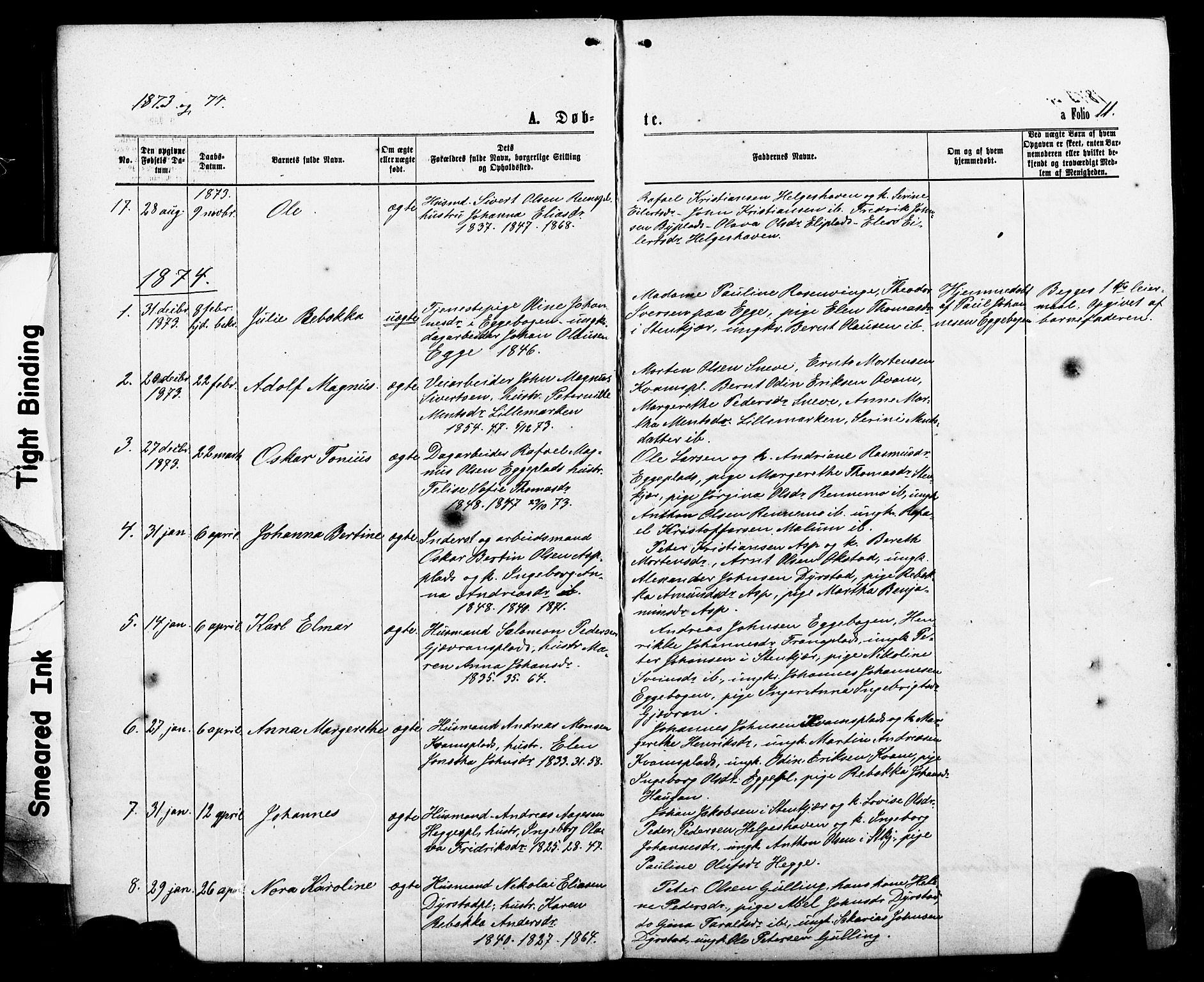 SAT, Ministerialprotokoller, klokkerbøker og fødselsregistre - Nord-Trøndelag, 740/L0380: Klokkerbok nr. 740C01, 1868-1902, s. 11