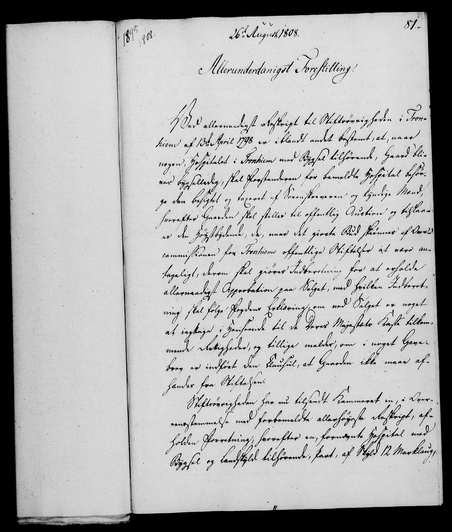 RA, Rentekammeret, Kammerkanselliet, G/Gf/Gfa/L0090: Norsk relasjons- og resolusjonsprotokoll (merket RK 52.90), 1808, s. 405
