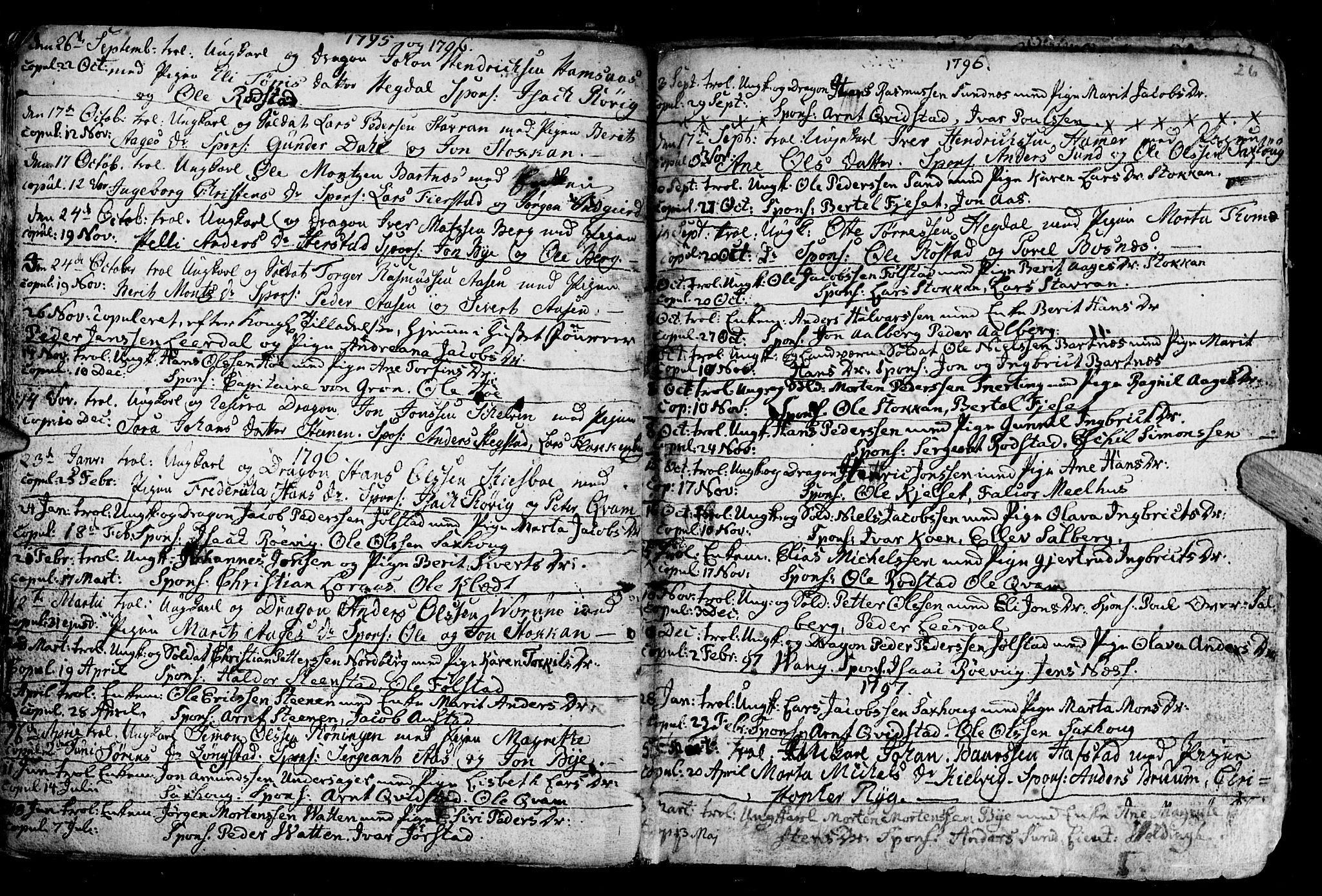 SAT, Ministerialprotokoller, klokkerbøker og fødselsregistre - Nord-Trøndelag, 730/L0273: Ministerialbok nr. 730A02, 1762-1802, s. 26