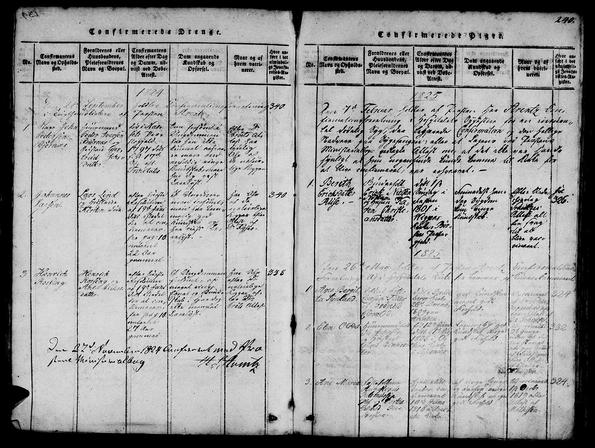 SAT, Ministerialprotokoller, klokkerbøker og fødselsregistre - Sør-Trøndelag, 623/L0478: Klokkerbok nr. 623C01, 1815-1873, s. 240