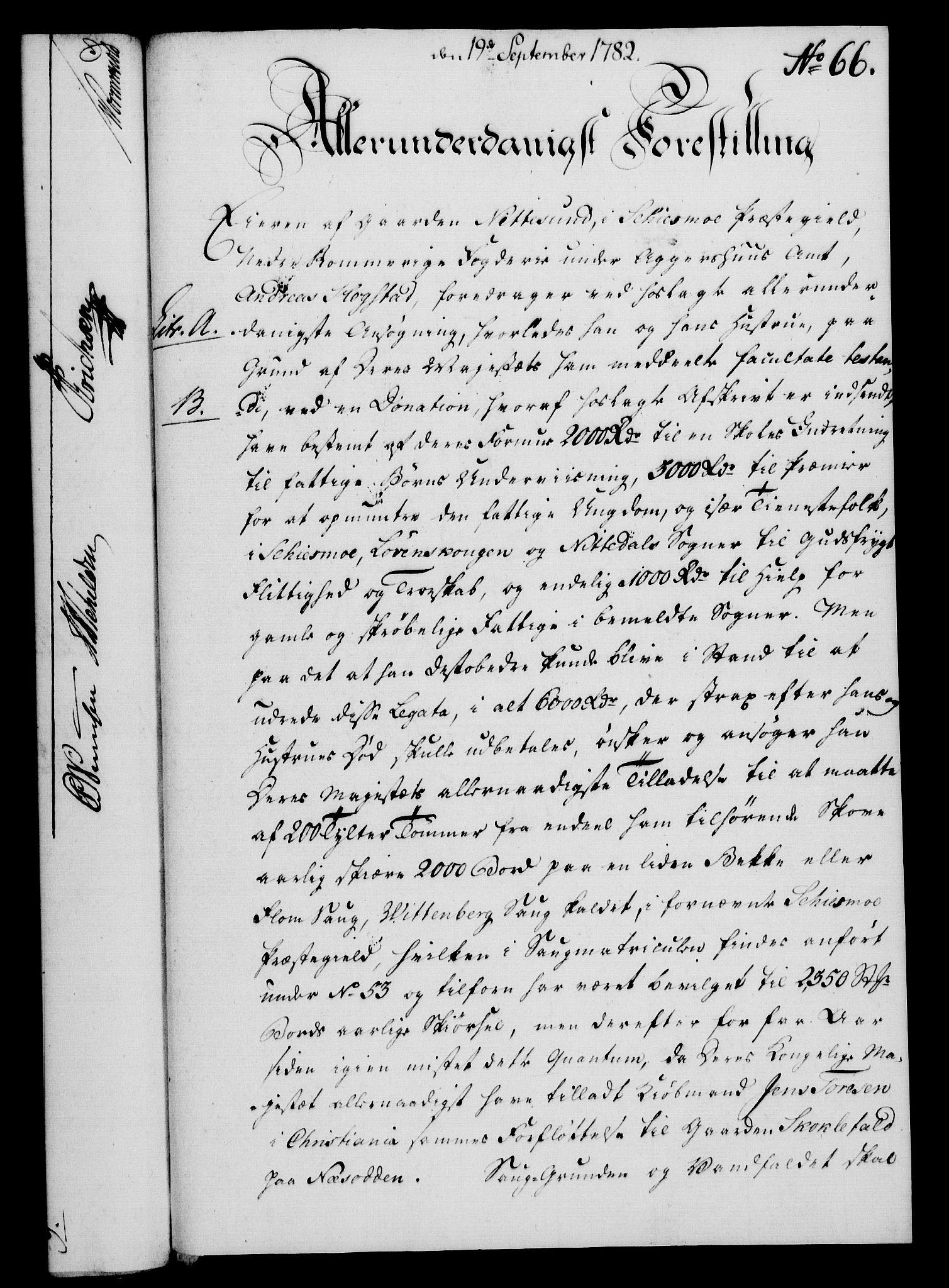 RA, Rentekammeret, Kammerkanselliet, G/Gf/Gfa/L0064: Norsk relasjons- og resolusjonsprotokoll (merket RK 52.64), 1782, s. 500