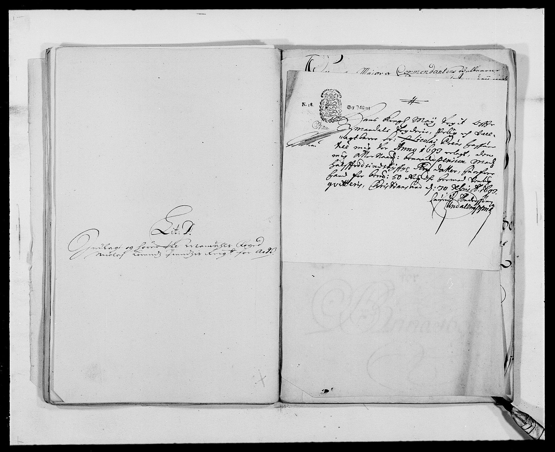 RA, Rentekammeret inntil 1814, Reviderte regnskaper, Fogderegnskap, R42/L2544: Mandal fogderi, 1692-1693, s. 225