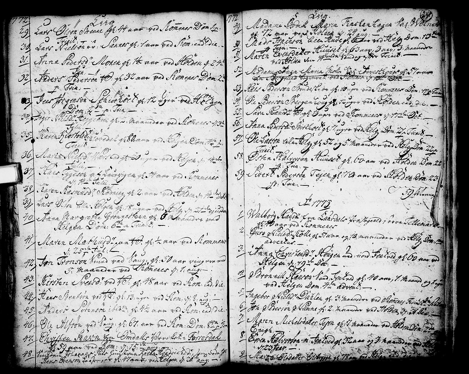 SAKO, Holla kirkebøker, F/Fa/L0001: Ministerialbok nr. 1, 1717-1779, s. 241