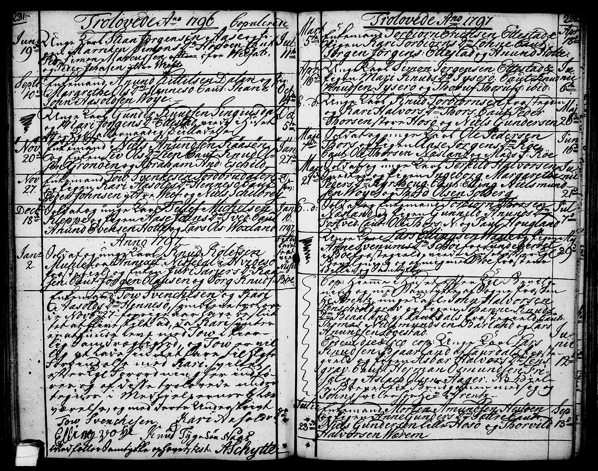 SAKO, Drangedal kirkebøker, F/Fa/L0003: Ministerialbok nr. 3, 1768-1814, s. 231-232