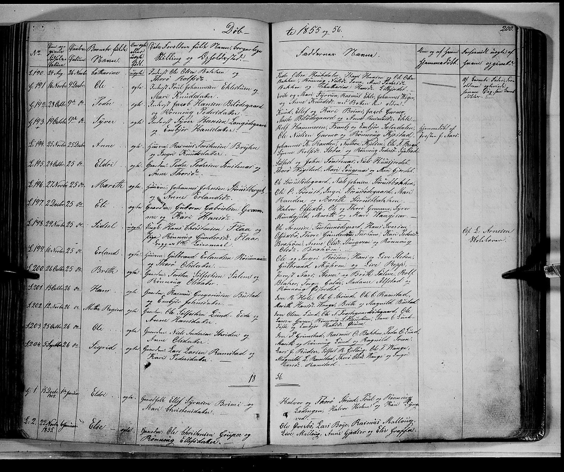 SAH, Lom prestekontor, K/L0006: Ministerialbok nr. 6A, 1837-1863, s. 200