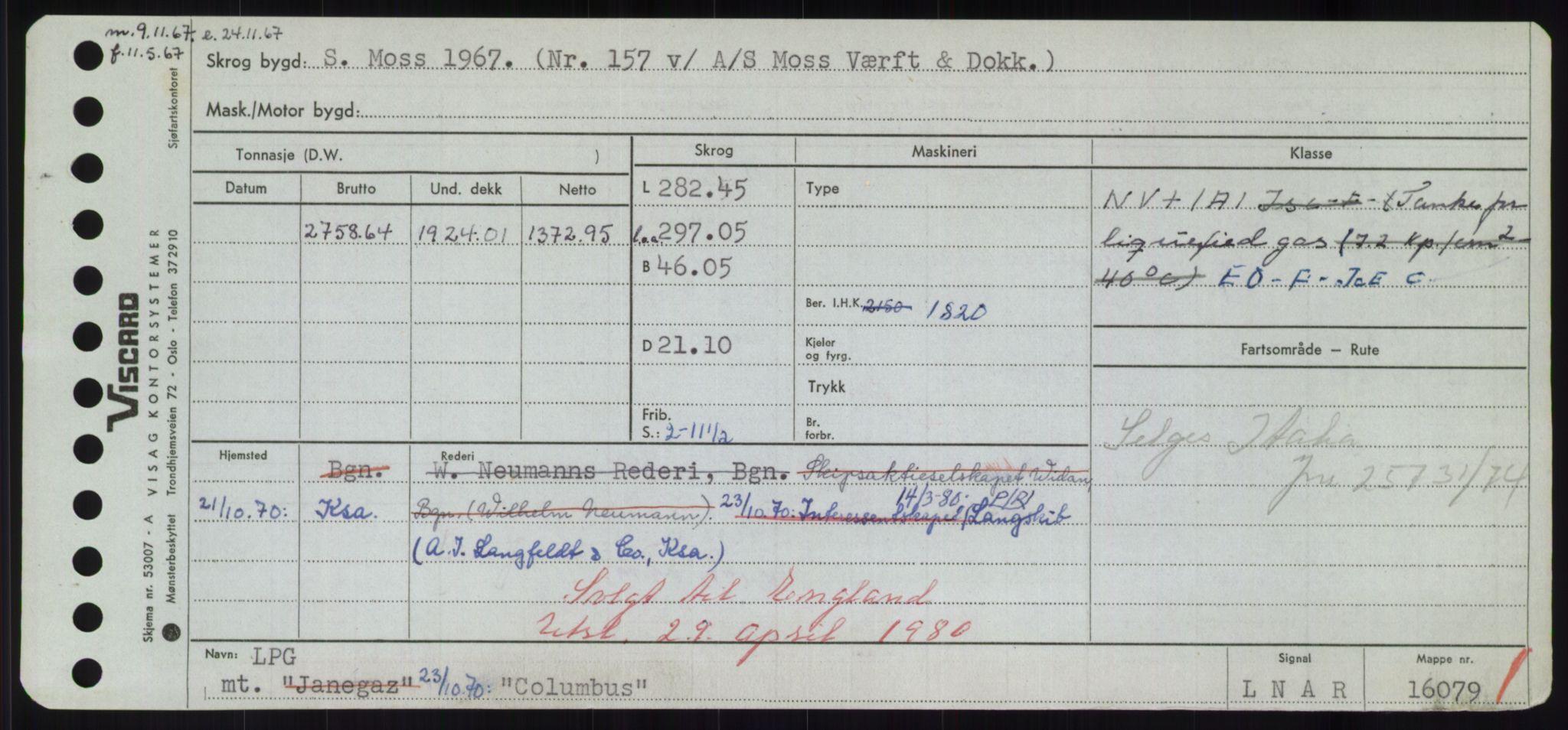 RA, Sjøfartsdirektoratet med forløpere, Skipsmålingen, H/Hd/L0008: Fartøy, C-D, s. 107