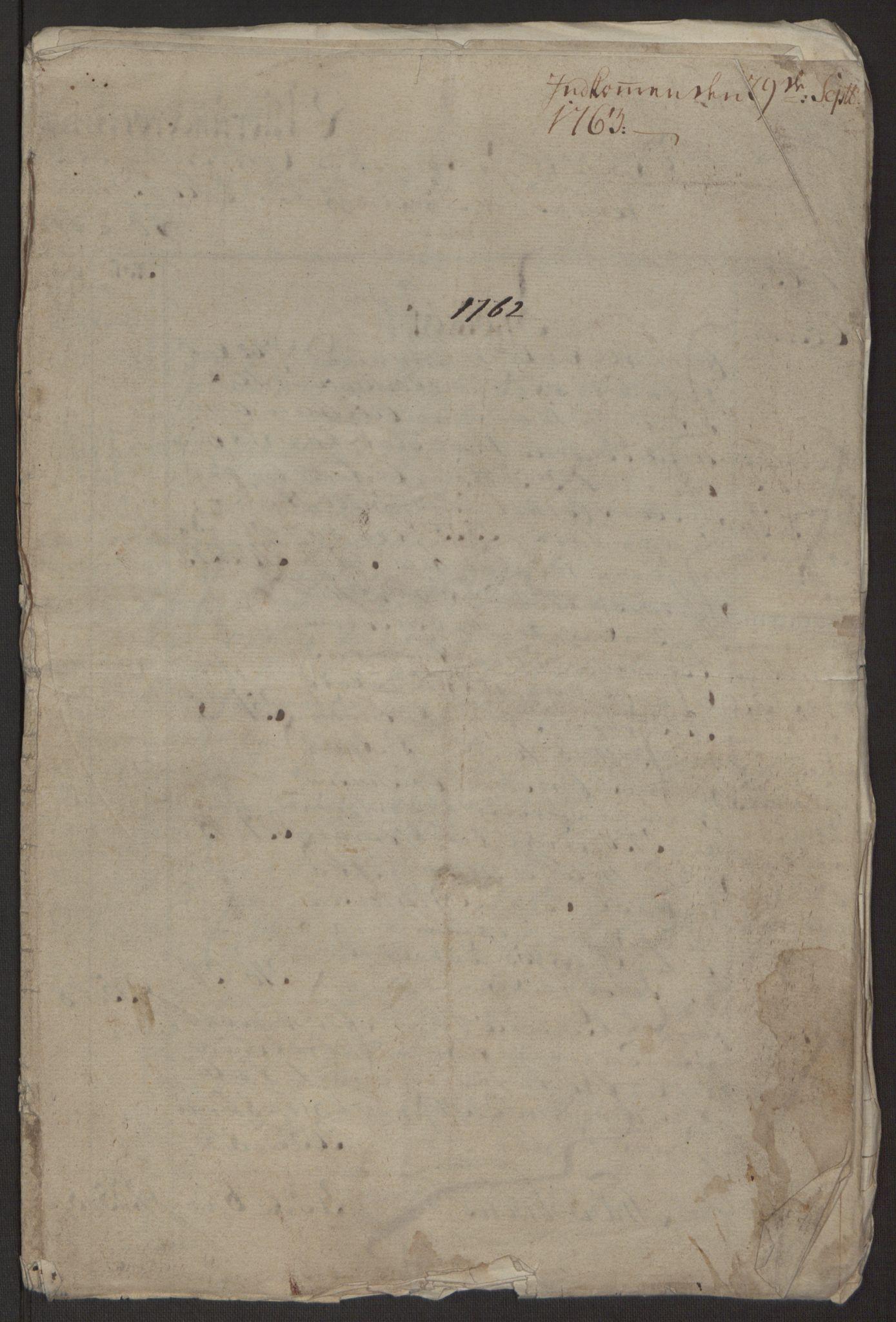 RA, Rentekammeret inntil 1814, Reviderte regnskaper, Byregnskaper, R/Rp/L0365: [P20] Kontribusjonsregnskap, 1762, s. 11