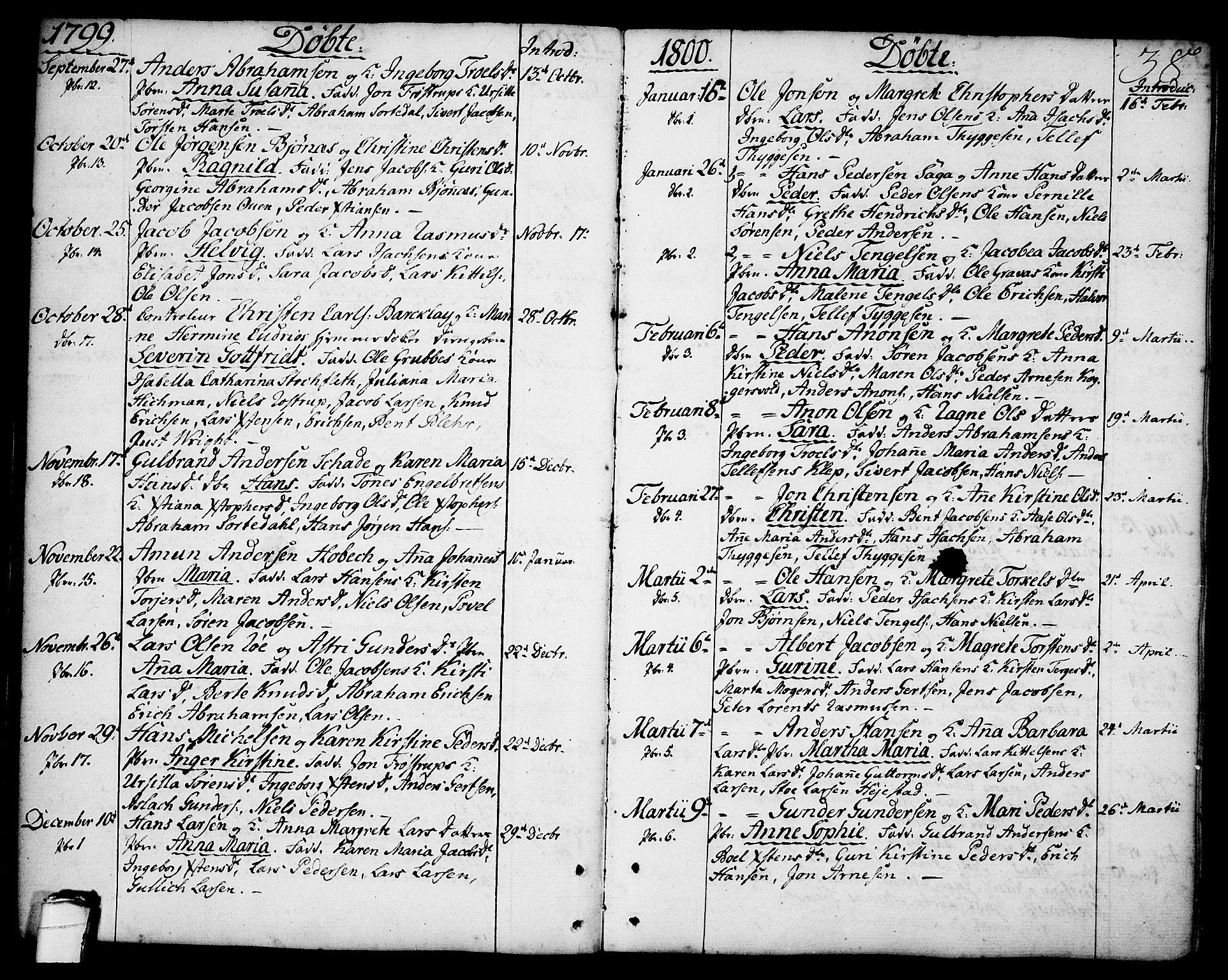 SAKO, Brevik kirkebøker, F/Fa/L0003: Ministerialbok nr. 3, 1764-1814, s. 38