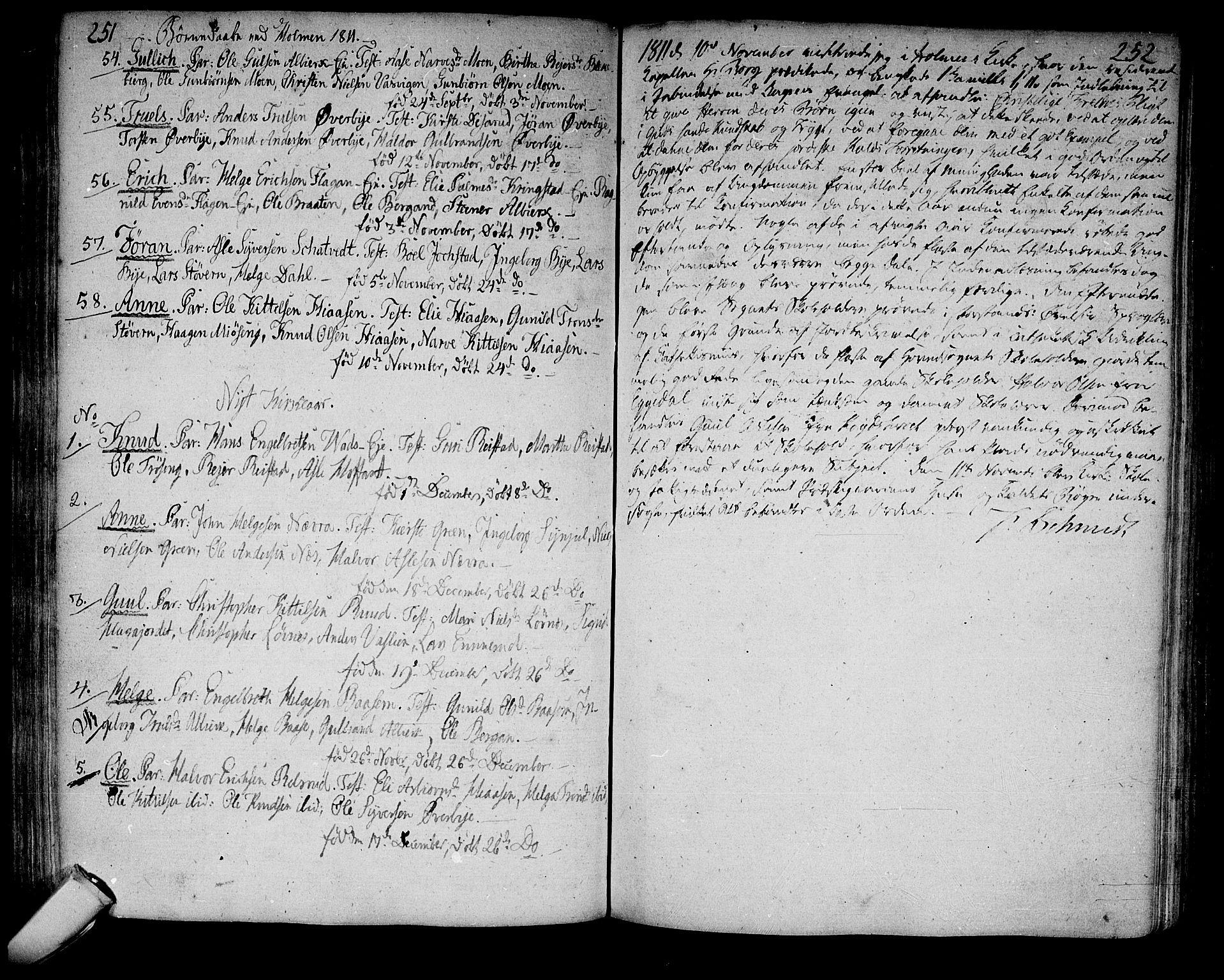 SAKO, Sigdal kirkebøker, F/Fa/L0003: Ministerialbok nr. I 3, 1793-1811, s. 251-252