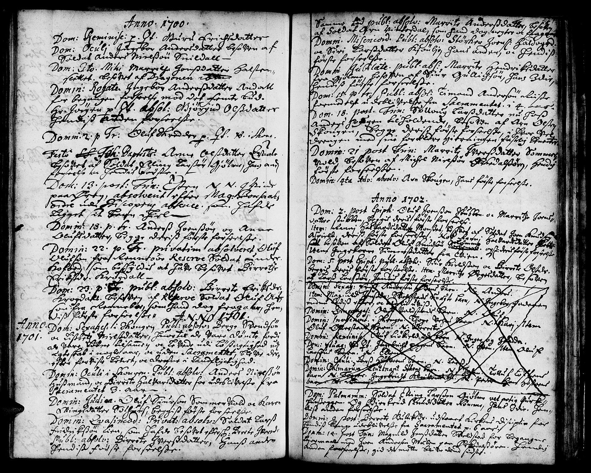 SAT, Ministerialprotokoller, klokkerbøker og fødselsregistre - Sør-Trøndelag, 668/L0801: Ministerialbok nr. 668A01, 1695-1716, s. 226-227