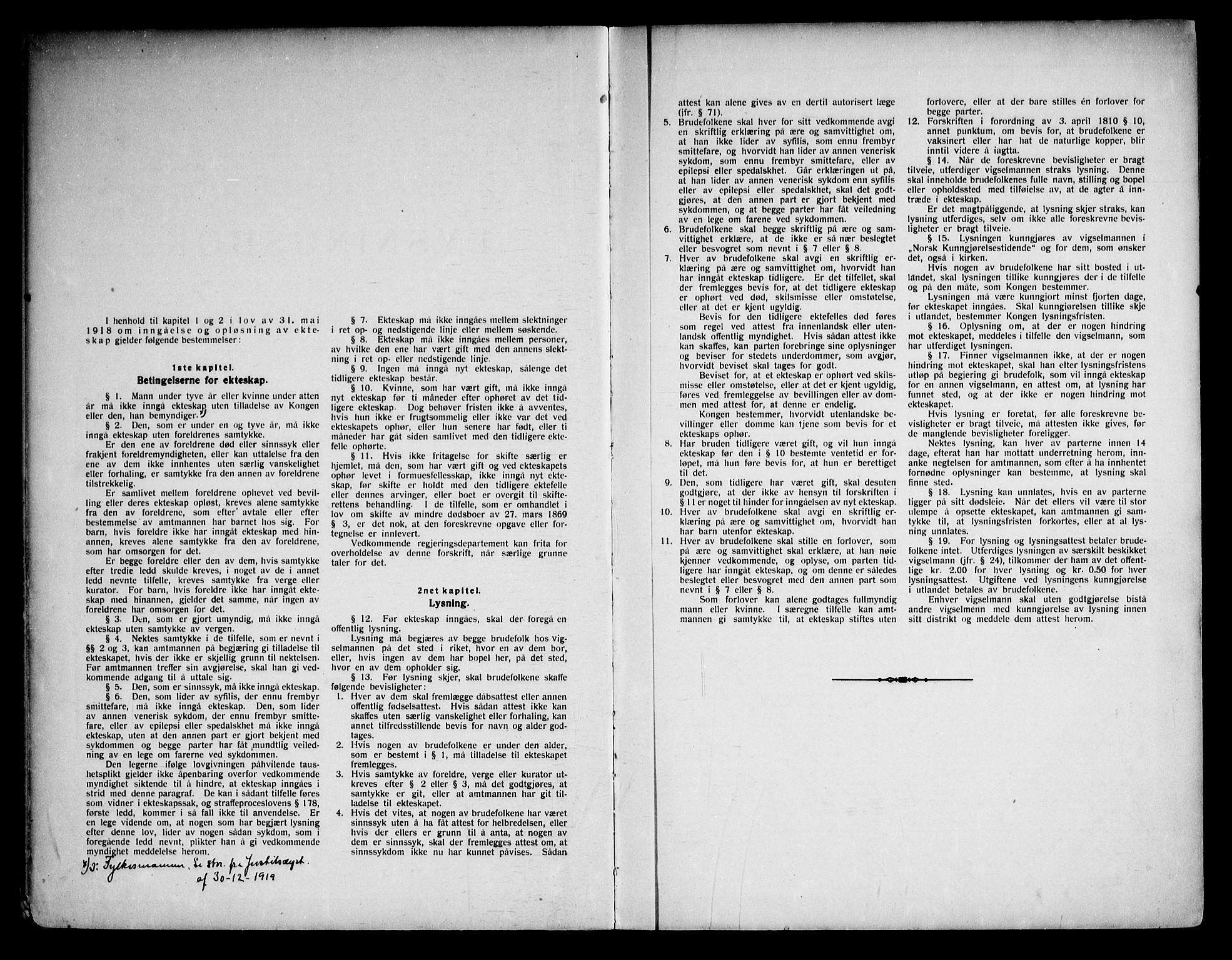 SAKO, Fyresdal kirkebøker, H/Ha/L0001: Lysningsprotokoll nr. 1, 1919-1969