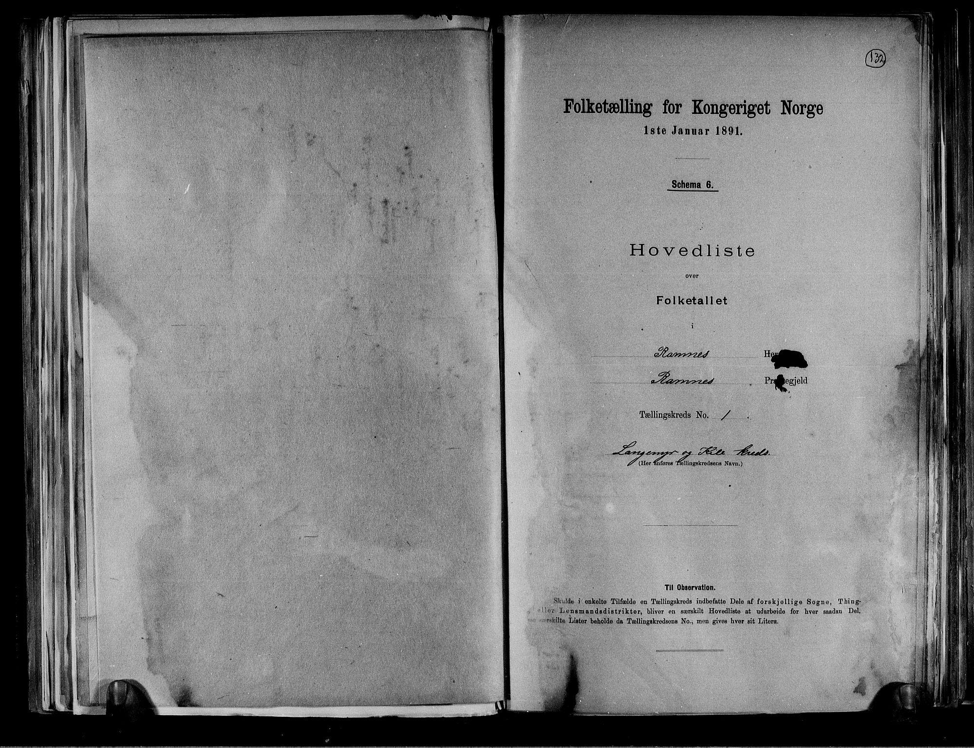 RA, Folketelling 1891 for 0718 Ramnes herred, 1891, s. 6