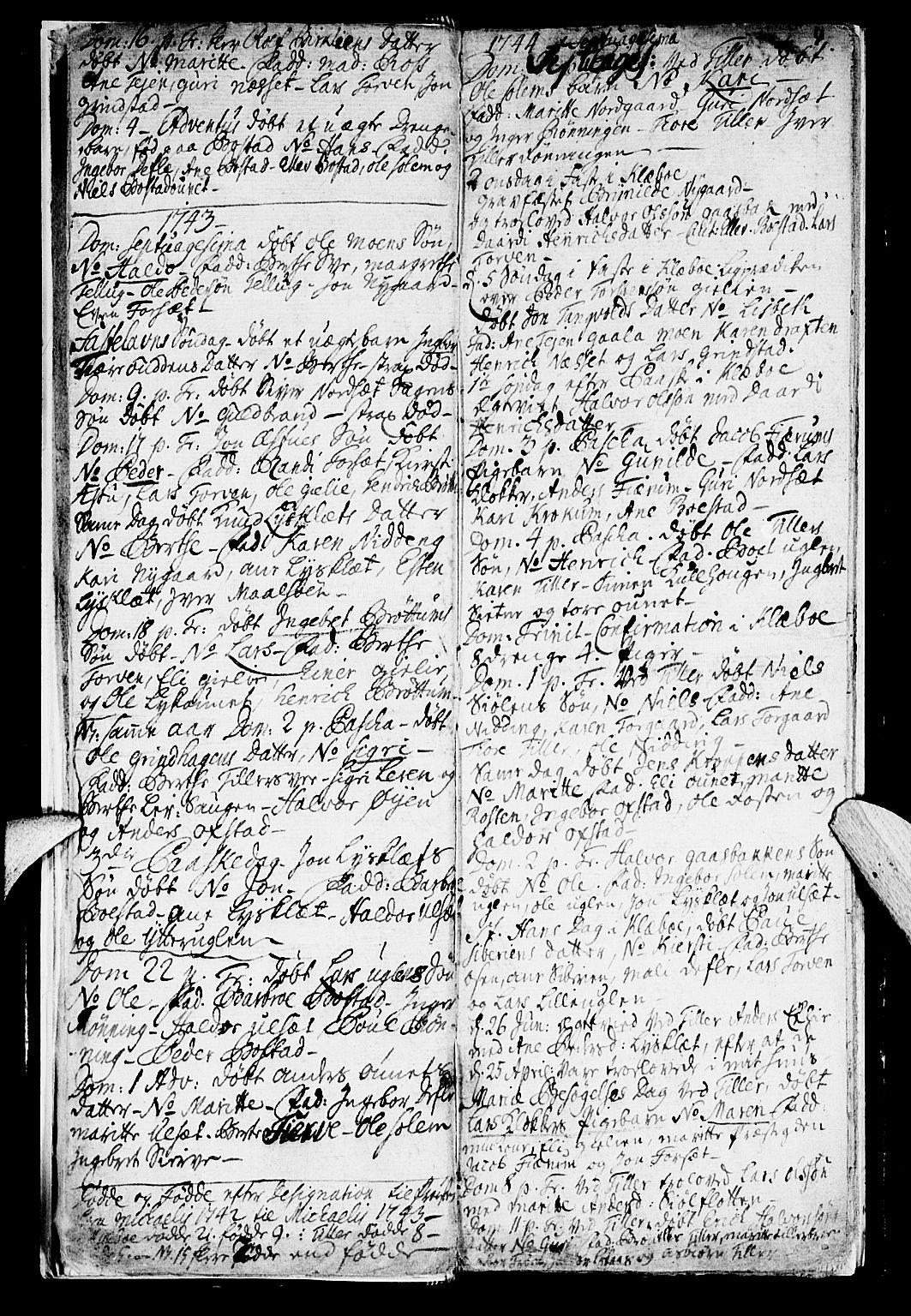 SAT, Ministerialprotokoller, klokkerbøker og fødselsregistre - Sør-Trøndelag, 618/L0436: Ministerialbok nr. 618A01, 1741-1749, s. 4