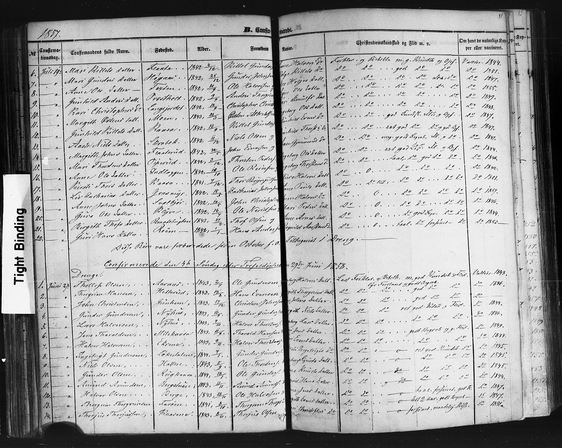 SAKO, Sauherad kirkebøker, F/Fb/L0001: Ministerialbok nr. II 1, 1851-1877, s. 81