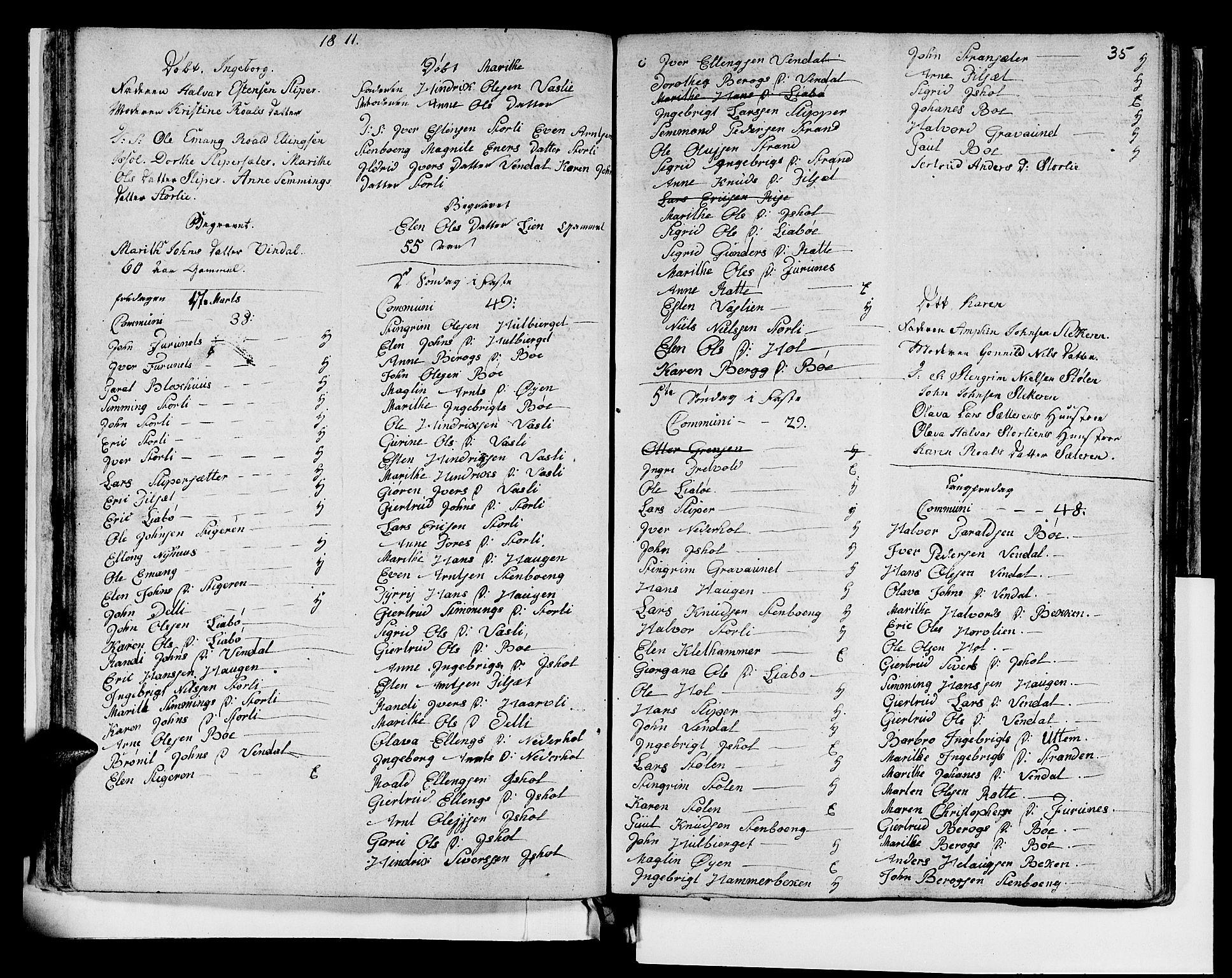 SAT, Ministerialprotokoller, klokkerbøker og fødselsregistre - Sør-Trøndelag, 679/L0921: Klokkerbok nr. 679C01, 1792-1840, s. 35