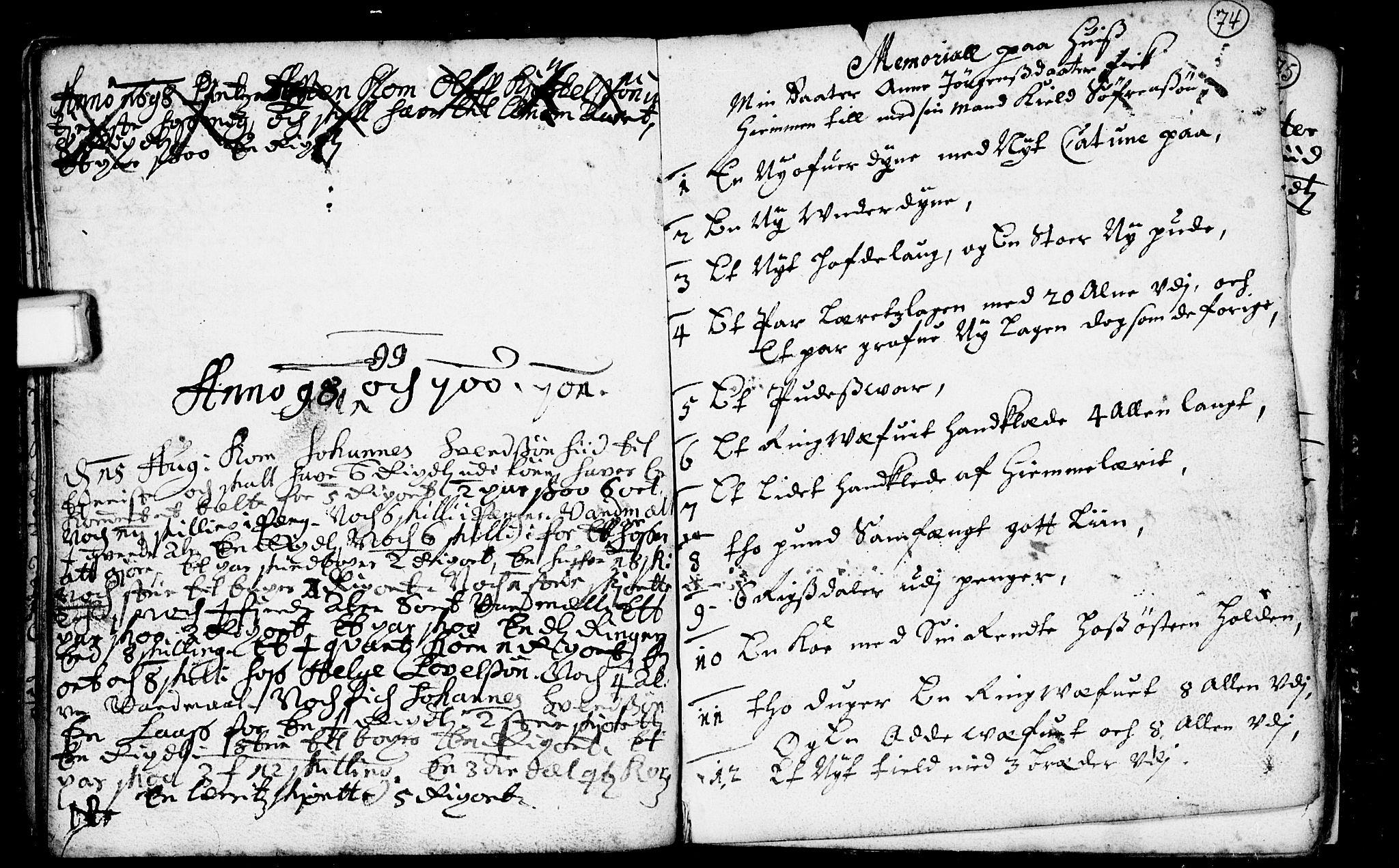 SAKO, Heddal kirkebøker, F/Fa/L0001: Ministerialbok nr. I 1, 1648-1699, s. 74
