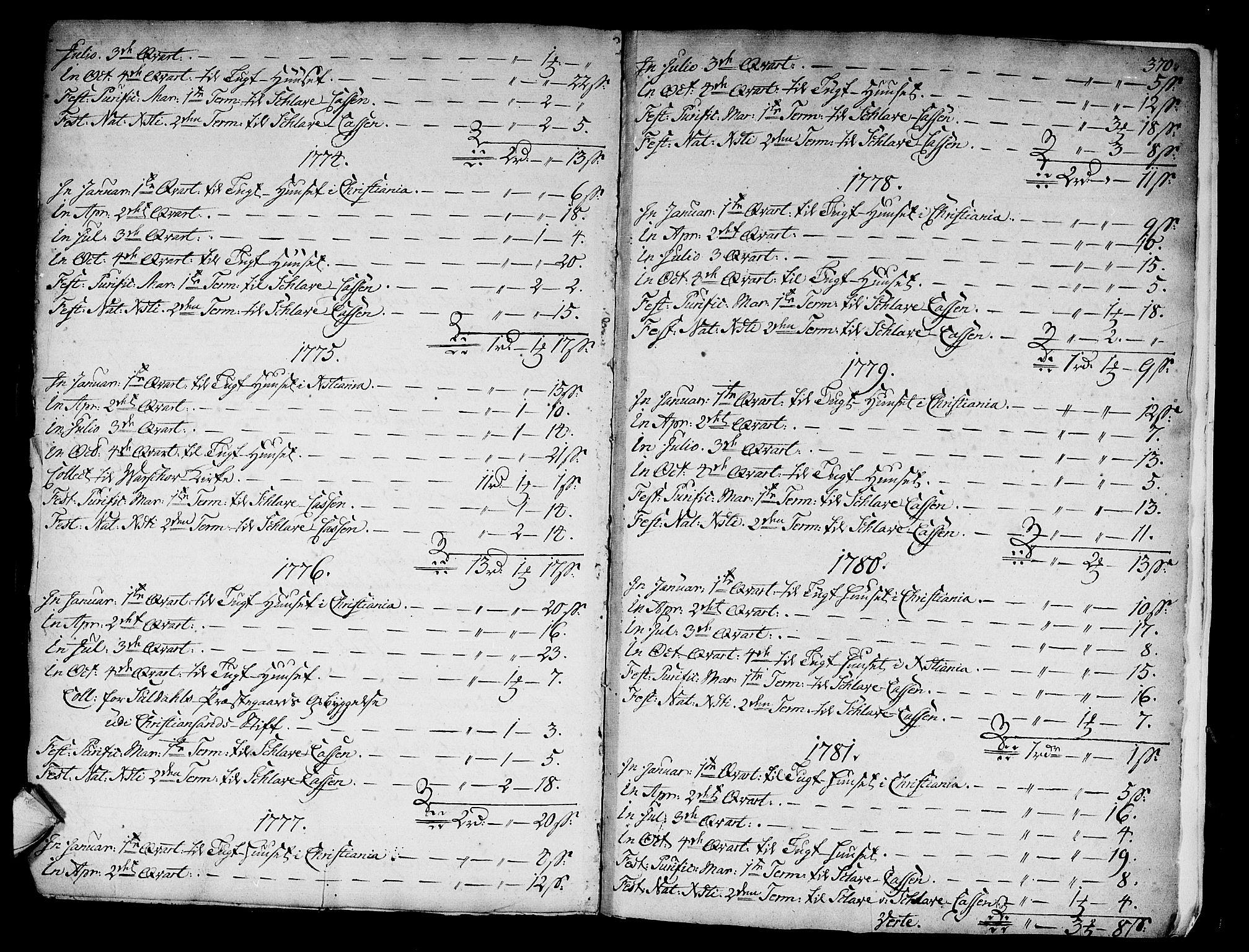 SAKO, Kongsberg kirkebøker, F/Fa/L0005: Ministerialbok nr. I 5, 1769-1782, s. 370