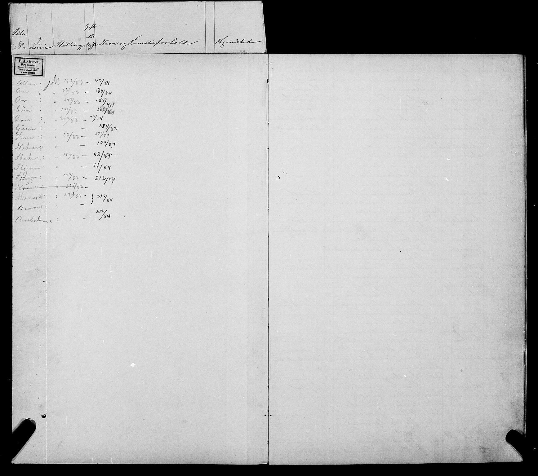 SAT, Trondheim politikammer, 32/L0006: Emigrantprotokoll VI 26.04-02.07, 1882-1885