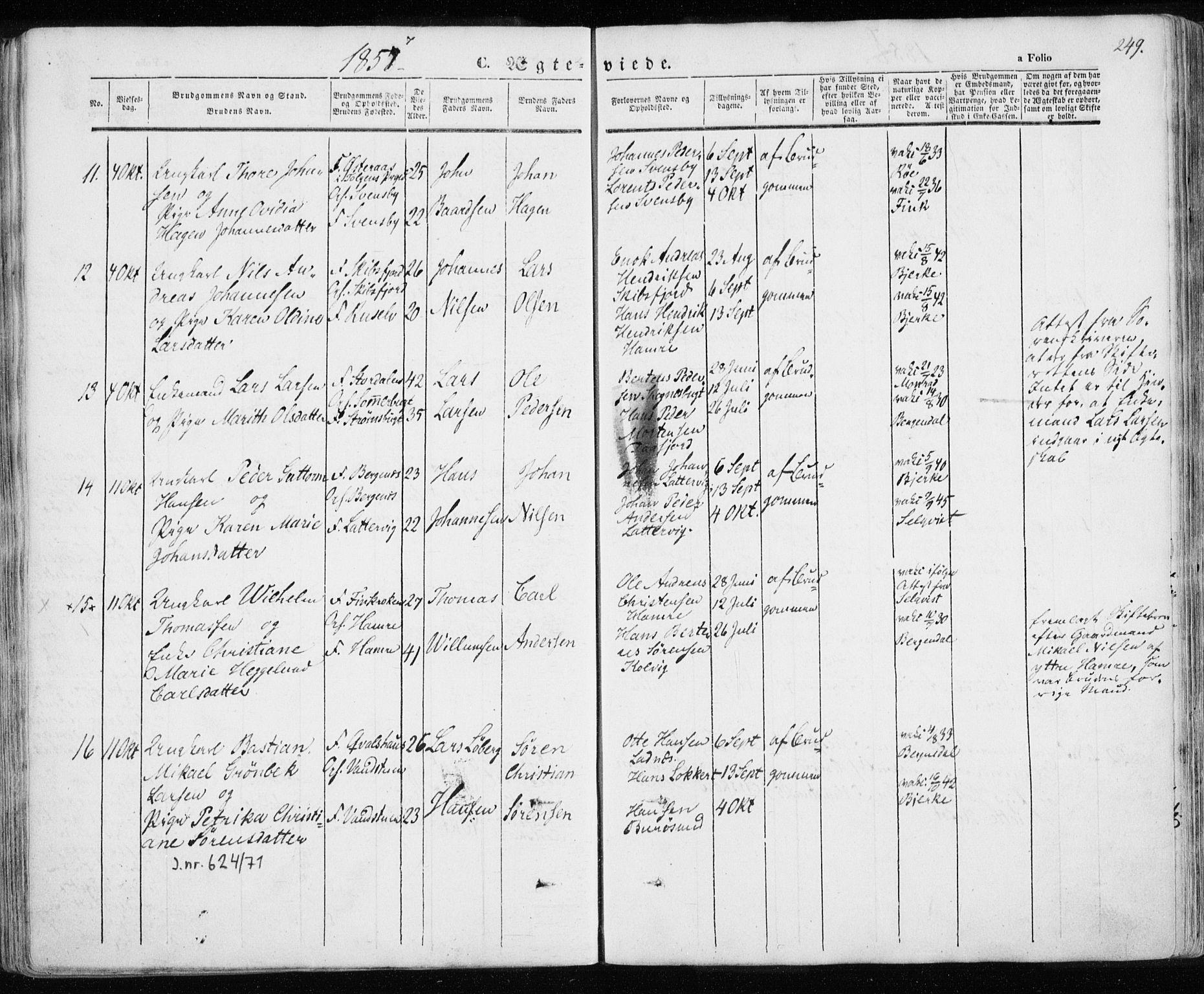 SATØ, Karlsøy sokneprestembete, H/Ha/Haa/L0003kirke: Ministerialbok nr. 3, 1843-1860, s. 249