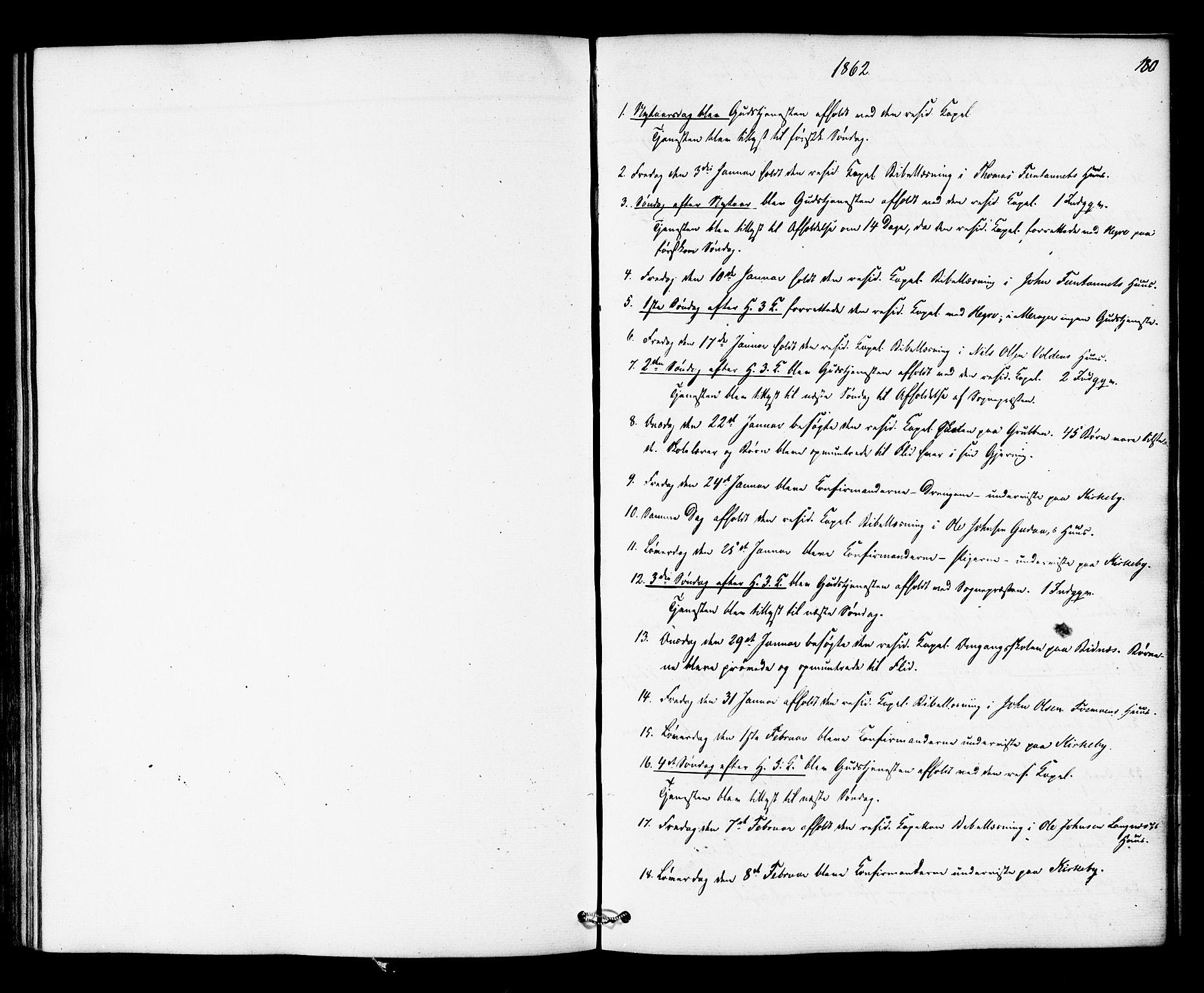 SAT, Ministerialprotokoller, klokkerbøker og fødselsregistre - Nord-Trøndelag, 706/L0041: Ministerialbok nr. 706A02, 1862-1877, s. 180