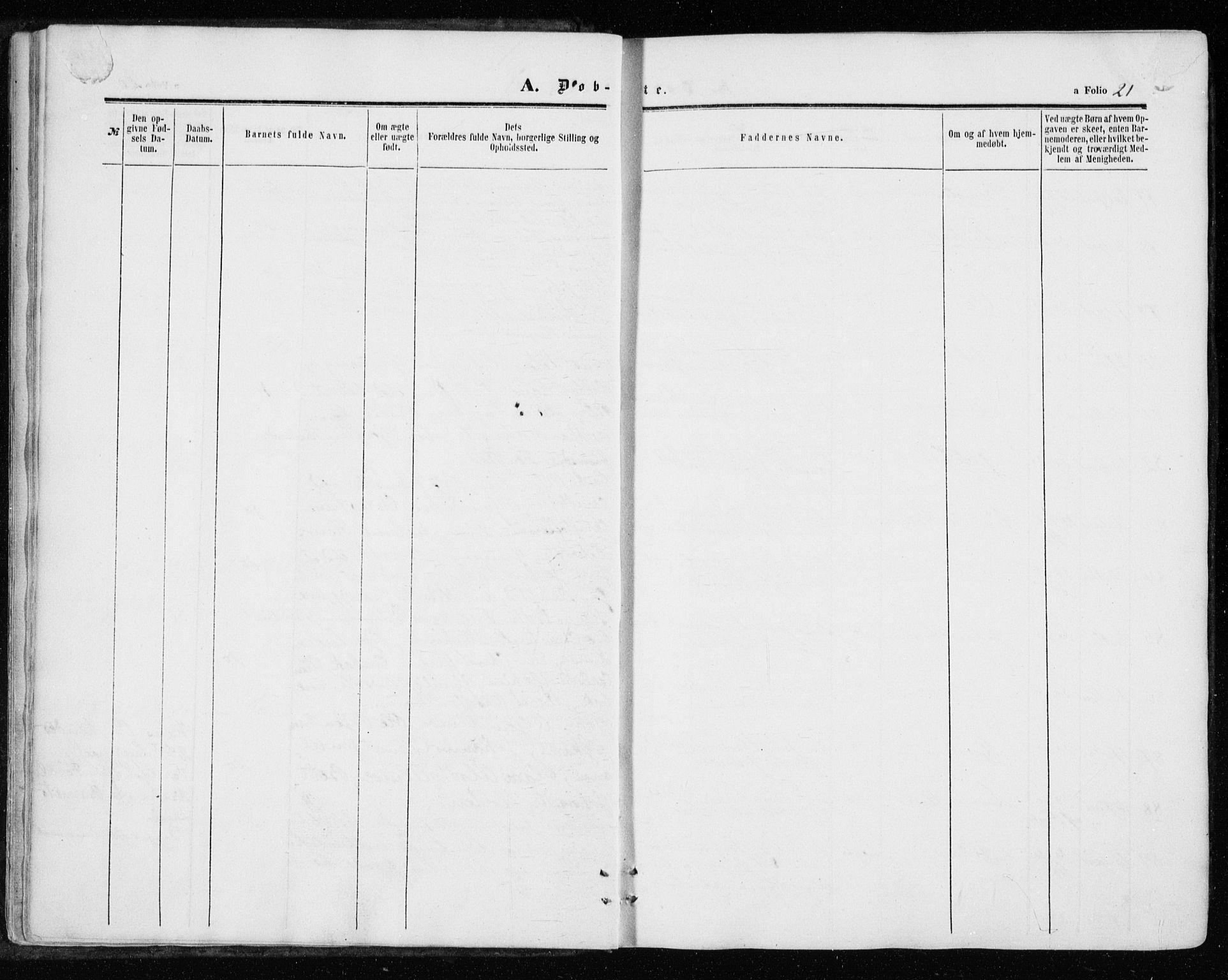 SAT, Ministerialprotokoller, klokkerbøker og fødselsregistre - Sør-Trøndelag, 646/L0612: Ministerialbok nr. 646A10, 1858-1869, s. 21