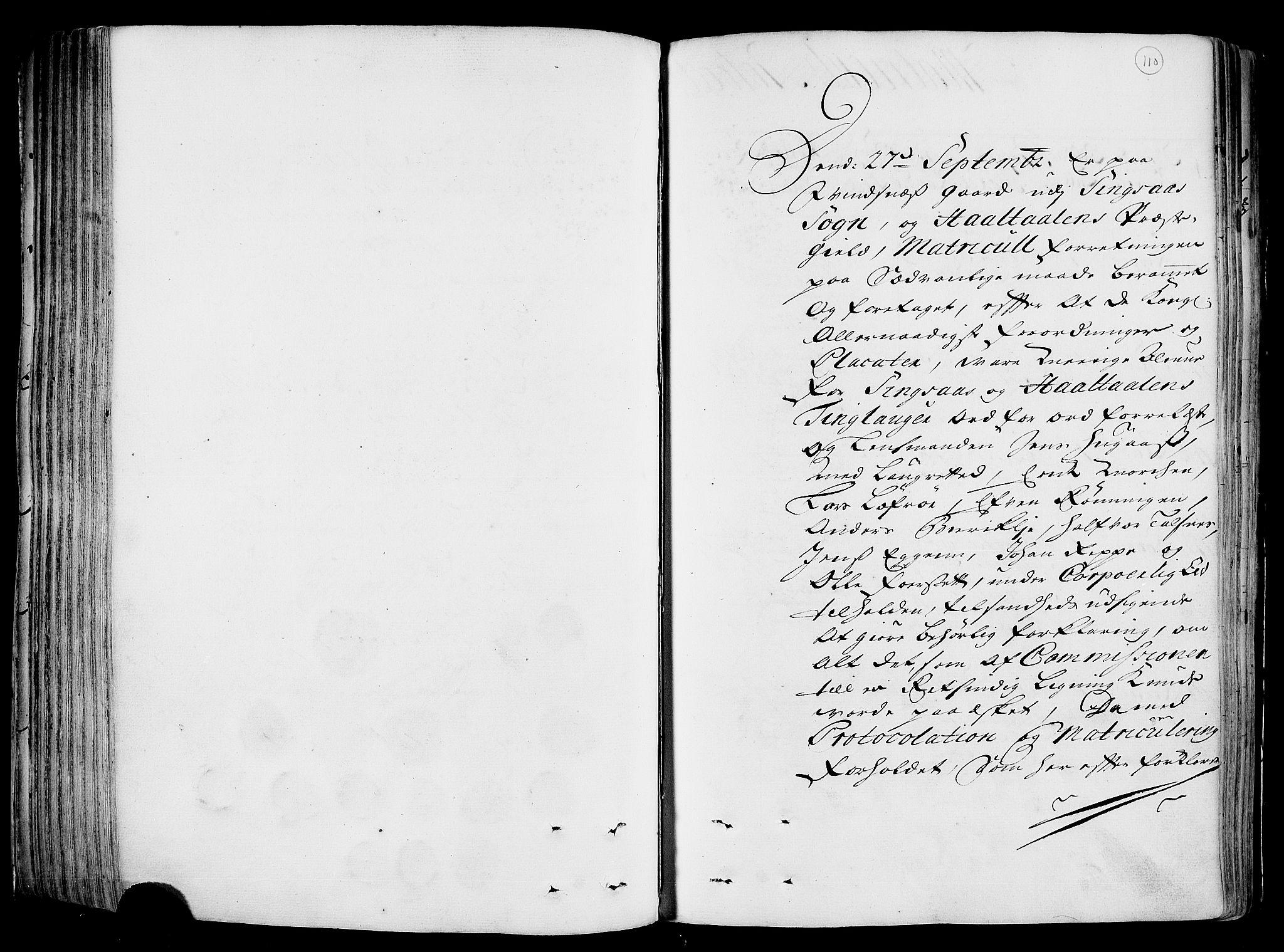 RA, Rentekammeret inntil 1814, Realistisk ordnet avdeling, N/Nb/Nbf/L0158: Gauldal eksaminasjonsprotokoll, 1723, s. 109b-110a