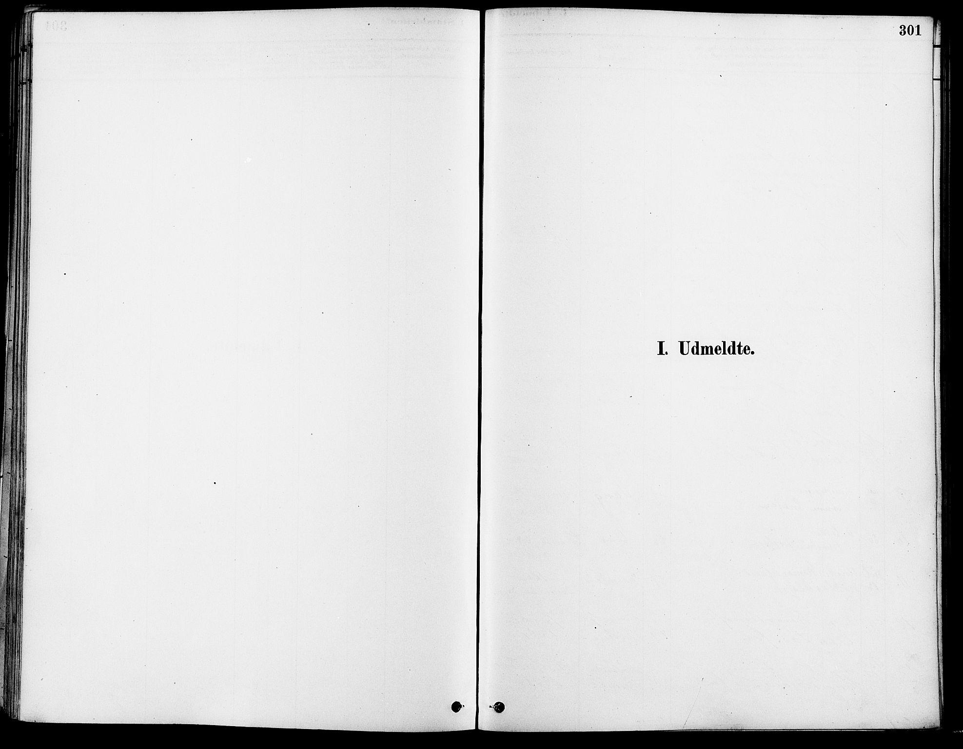 SAO, Gamle Aker prestekontor Kirkebøker, F/L0007: Ministerialbok nr. 7, 1882-1890, s. 301