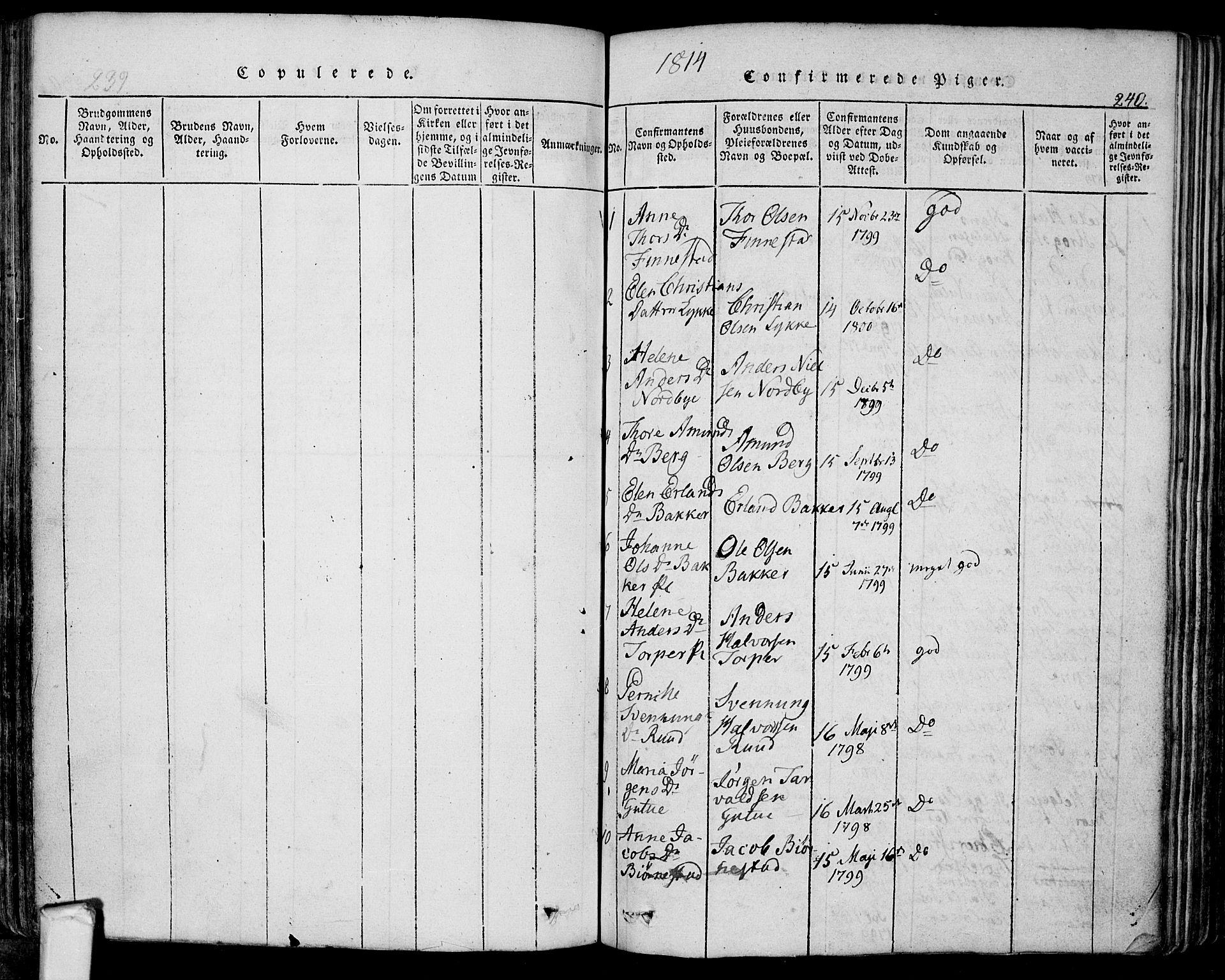SAO, Eidsberg prestekontor Kirkebøker, F/Fa/L0007: Ministerialbok nr. I 7, 1814-1832, s. 240