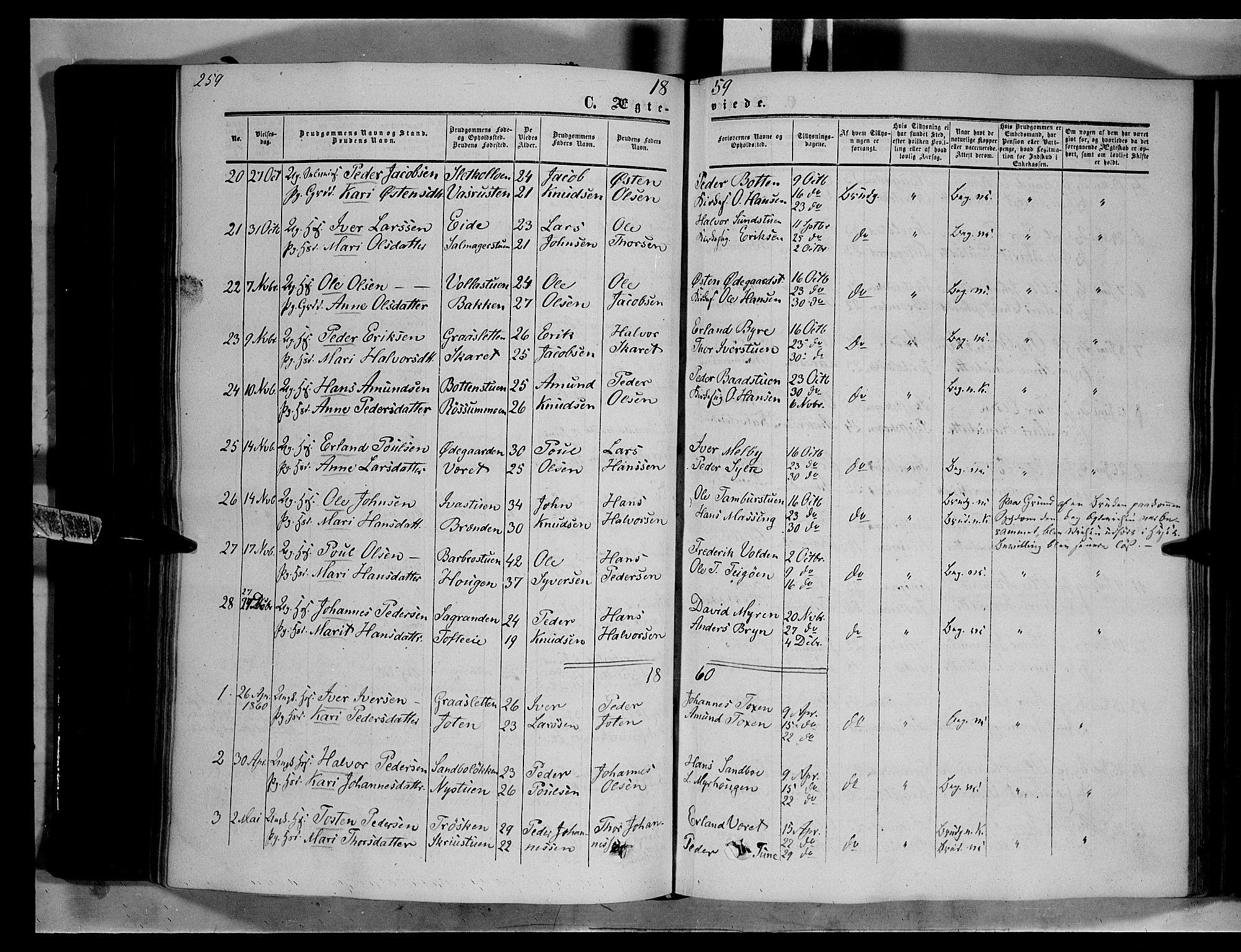 SAH, Nord-Fron prestekontor, Ministerialbok nr. 1, 1851-1864, s. 259