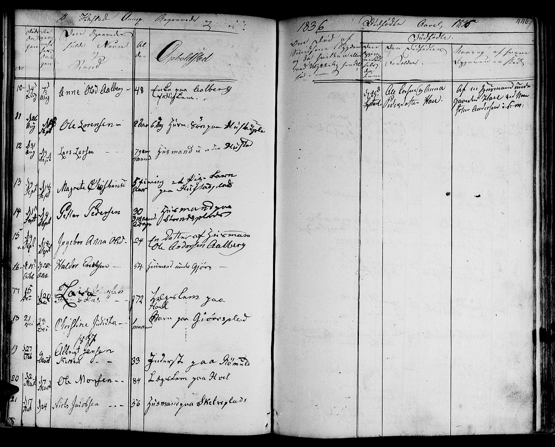 SAT, Ministerialprotokoller, klokkerbøker og fødselsregistre - Nord-Trøndelag, 730/L0277: Ministerialbok nr. 730A06 /3, 1830-1839, s. 446