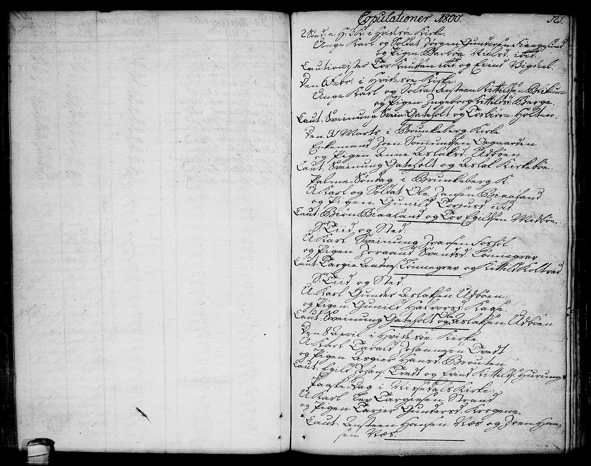 SAKO, Kviteseid kirkebøker, F/Fa/L0004: Ministerialbok nr. I 4, 1800-1814, s. 121
