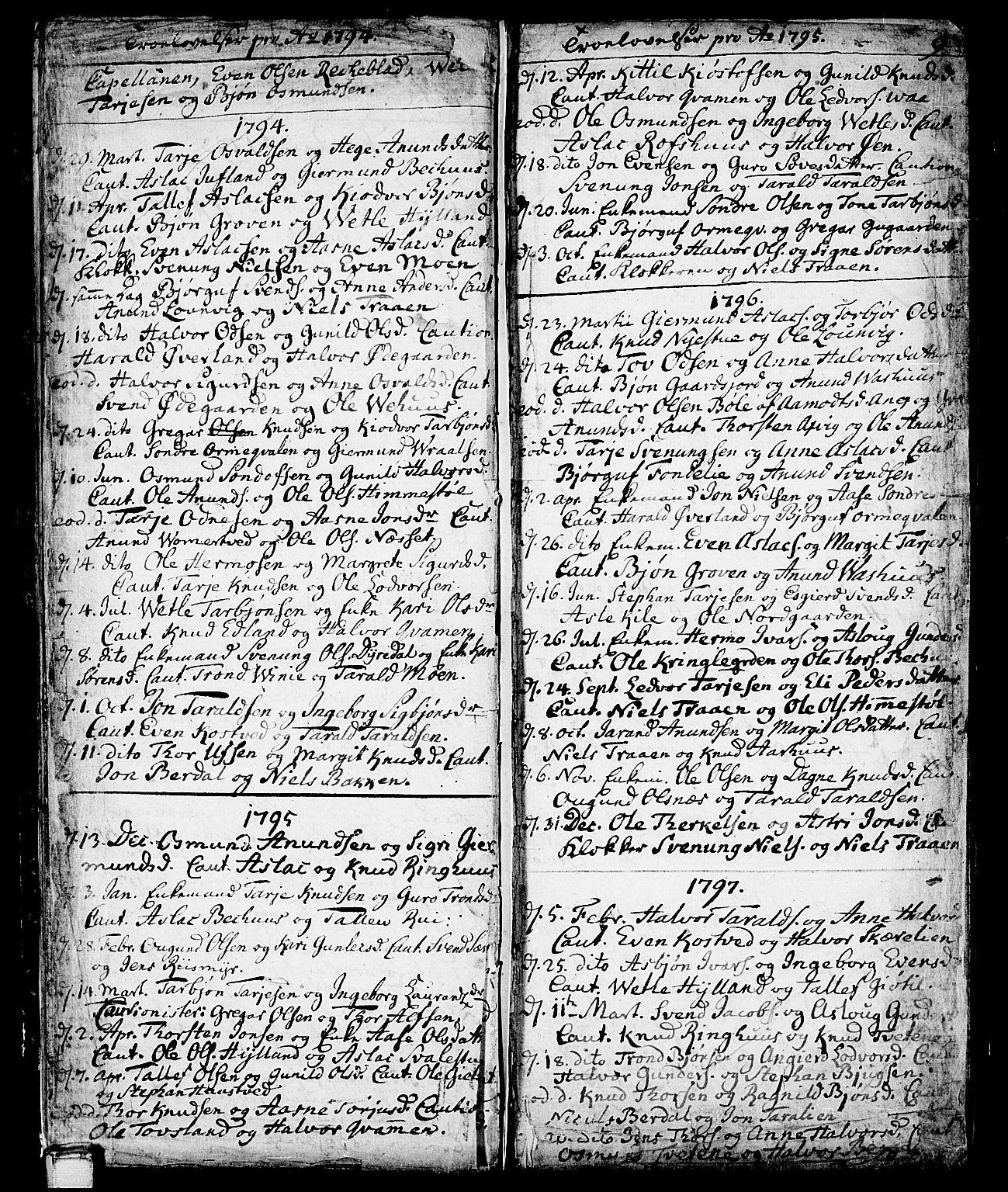 SAKO, Vinje kirkebøker, F/Fa/L0002: Ministerialbok nr. I 2, 1767-1814, s. 9