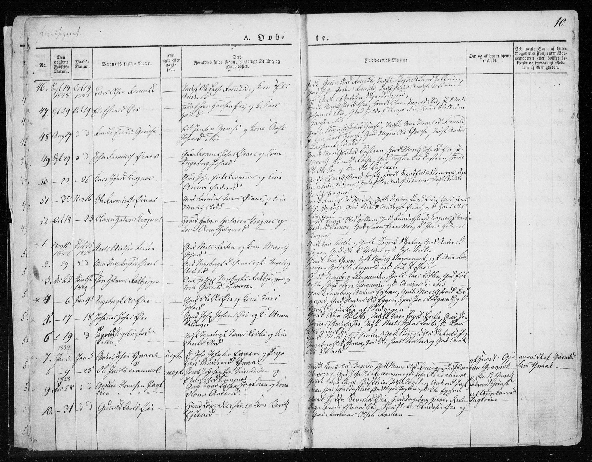 SAT, Ministerialprotokoller, klokkerbøker og fødselsregistre - Sør-Trøndelag, 691/L1069: Ministerialbok nr. 691A04, 1826-1841, s. 10