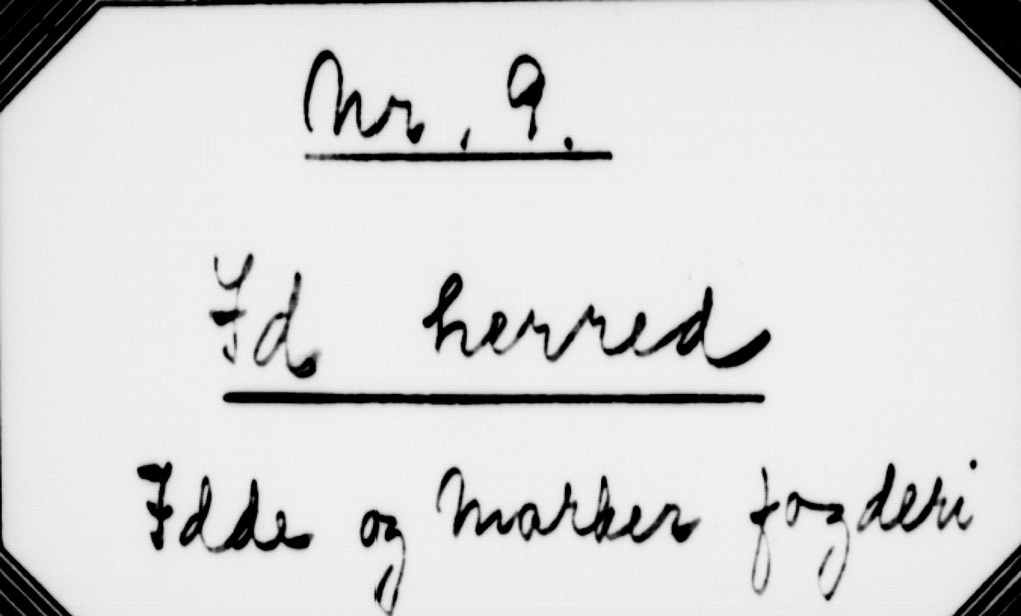 RA, Matrikkelrevisjonen av 1863, F/Fe/L0009: Idd, 1863
