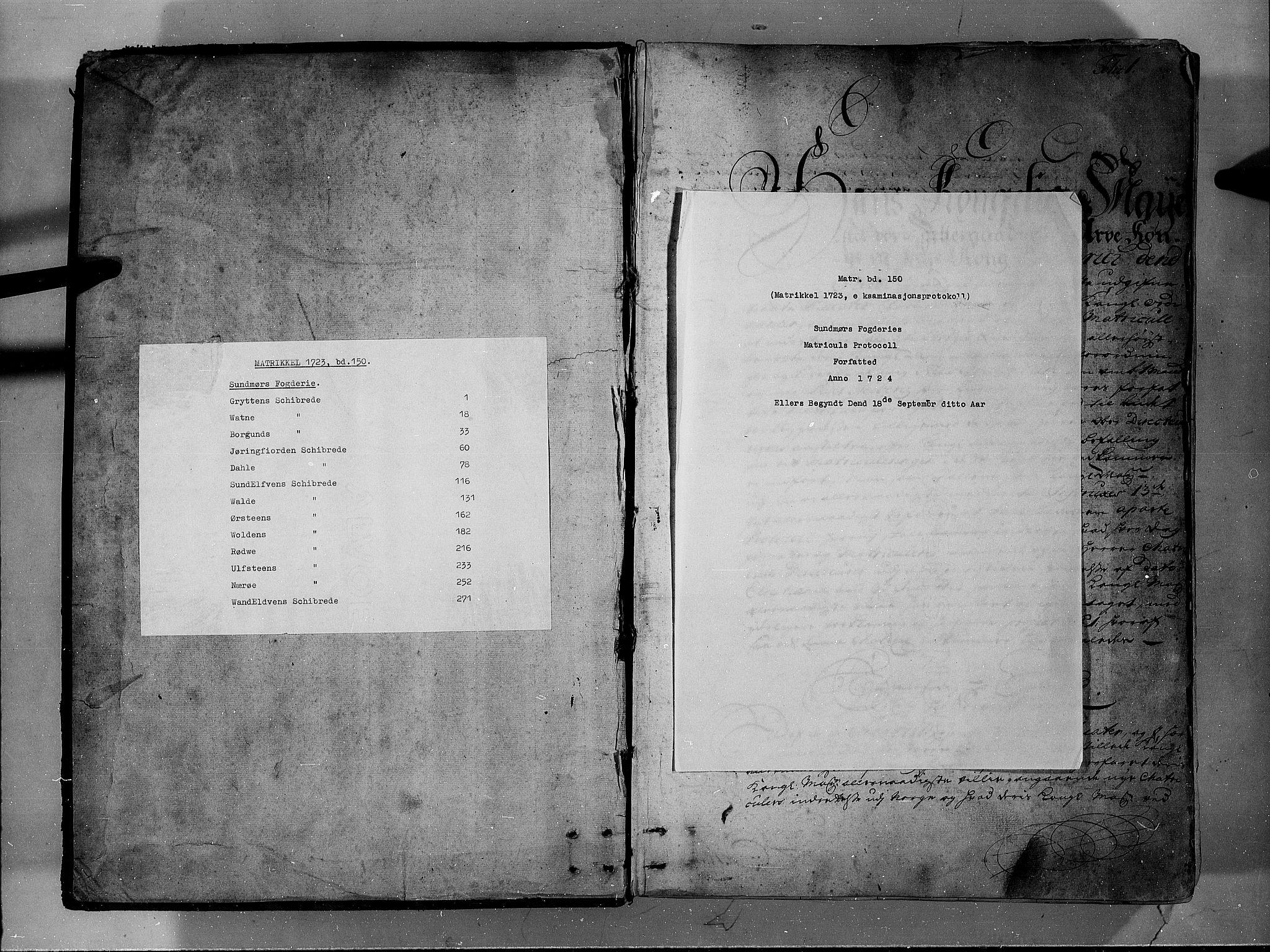 RA, Rentekammeret inntil 1814, Realistisk ordnet avdeling, N/Nb/Nbf/L0150: Sunnmøre eksaminasjonsprotokoll, 1724, s. upaginert