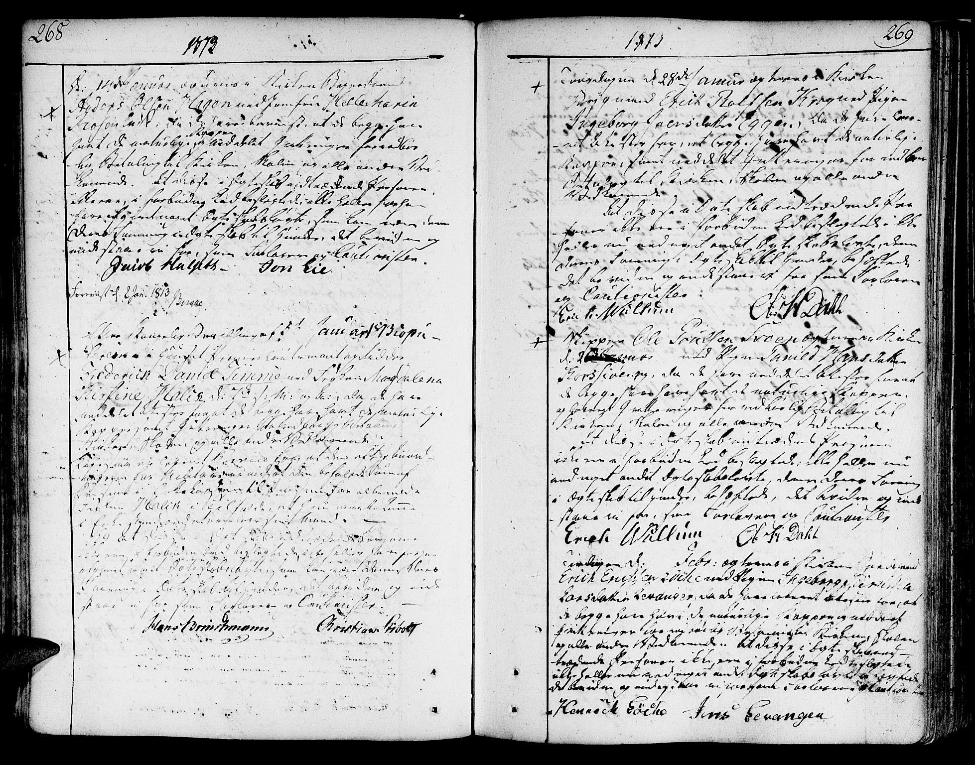 SAT, Ministerialprotokoller, klokkerbøker og fødselsregistre - Sør-Trøndelag, 602/L0105: Ministerialbok nr. 602A03, 1774-1814, s. 268-269