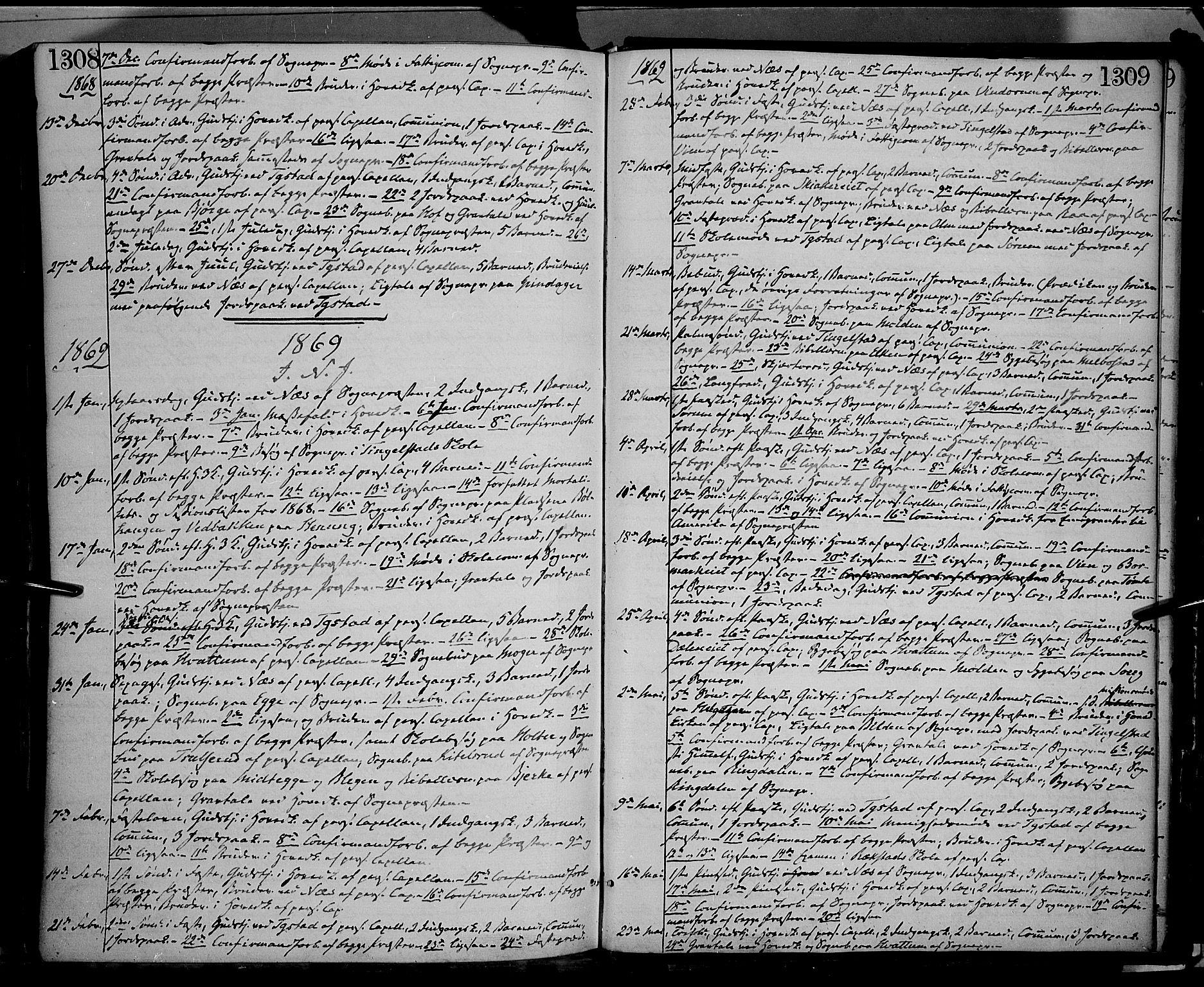 SAH, Gran prestekontor, Ministerialbok nr. 12, 1856-1874, s. 1308-1309