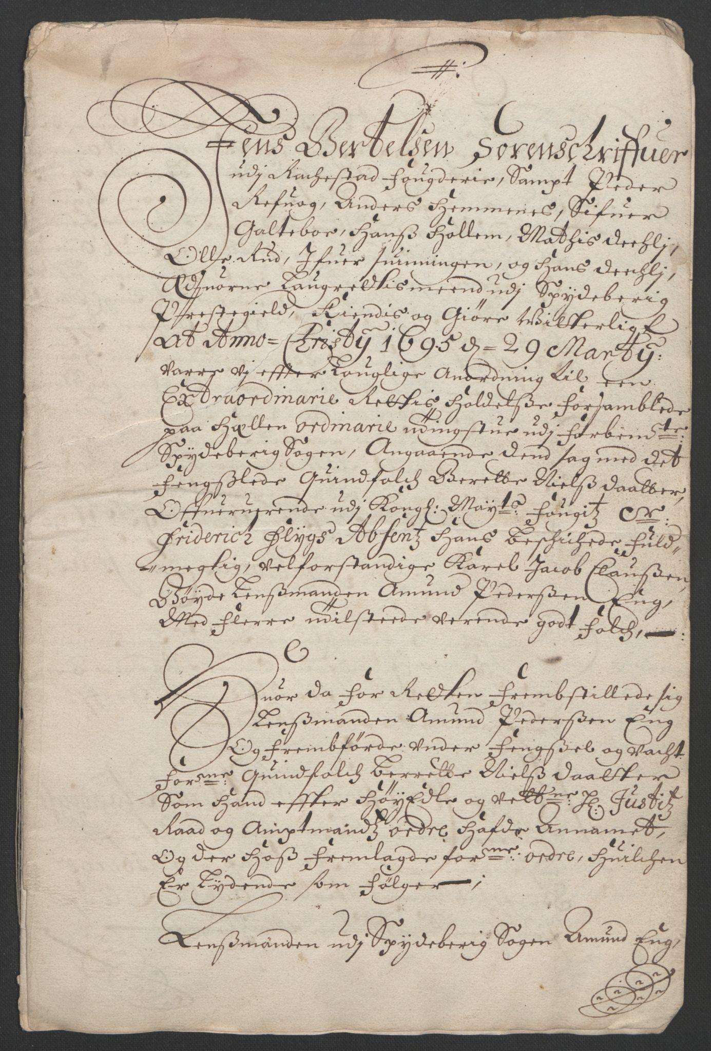 RA, Rentekammeret inntil 1814, Reviderte regnskaper, Fogderegnskap, R07/L0285: Fogderegnskap Rakkestad, Heggen og Frøland, 1695, s. 317
