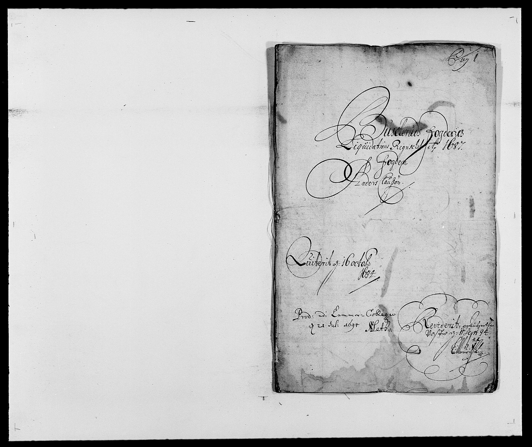 RA, Rentekammeret inntil 1814, Reviderte regnskaper, Fogderegnskap, R25/L1679: Fogderegnskap Buskerud, 1687-1688, s. 2