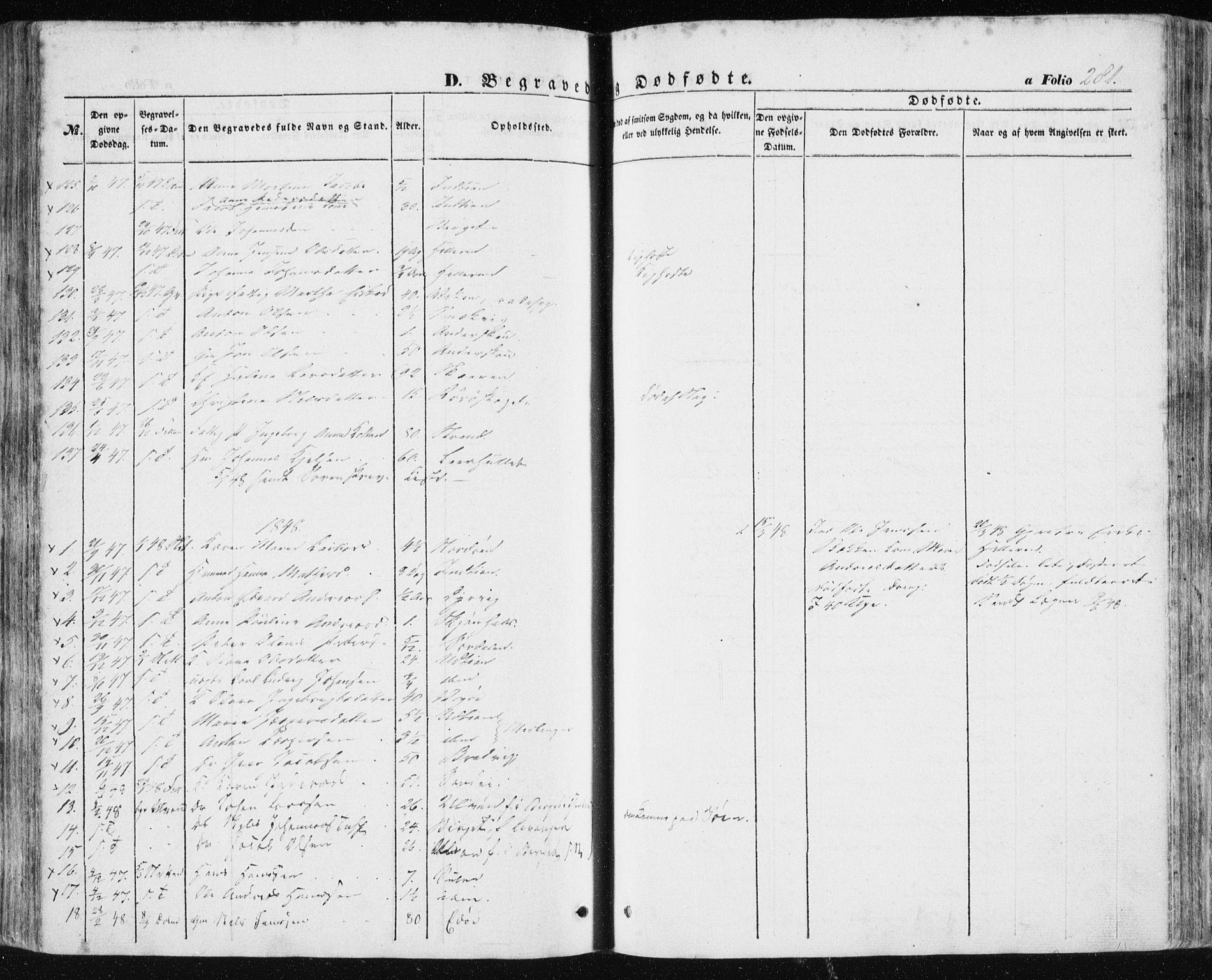 SAT, Ministerialprotokoller, klokkerbøker og fødselsregistre - Sør-Trøndelag, 634/L0529: Ministerialbok nr. 634A05, 1843-1851, s. 281