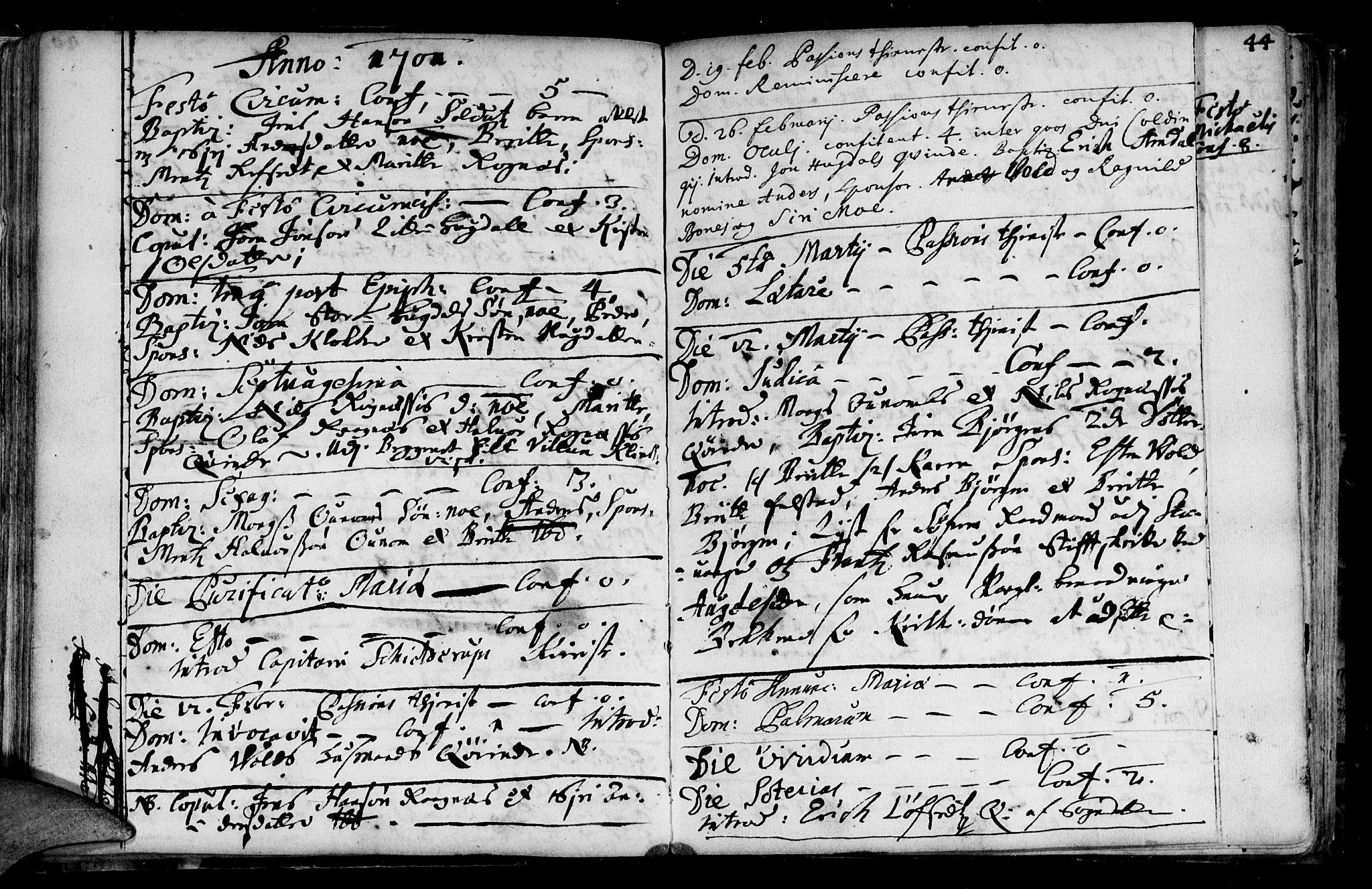 SAT, Ministerialprotokoller, klokkerbøker og fødselsregistre - Sør-Trøndelag, 687/L0990: Ministerialbok nr. 687A01, 1690-1746, s. 42